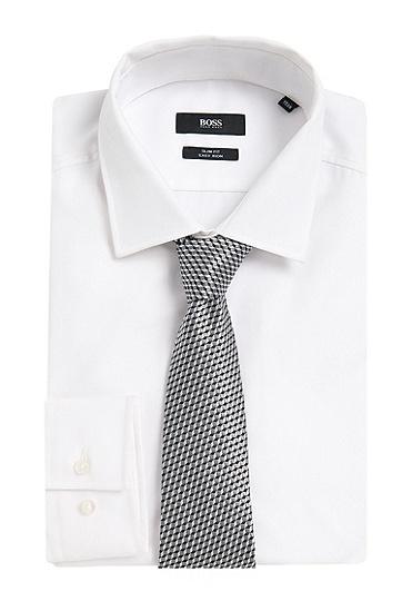 Gestreifte Krawatte aus Seide: 'T-Tie 7,5', Grau