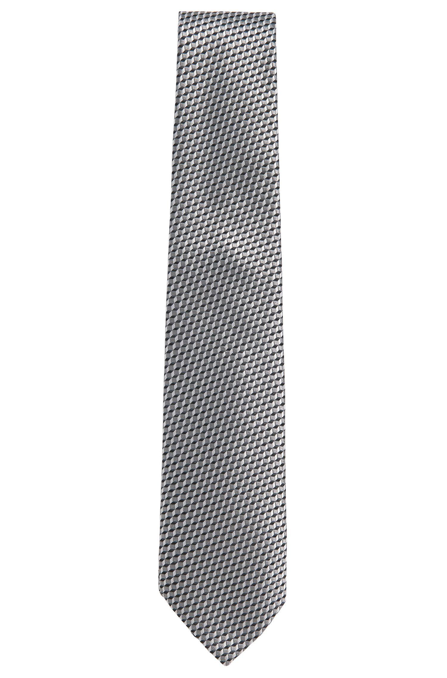 Striped tie in silk: 'T-Tie 7.5'
