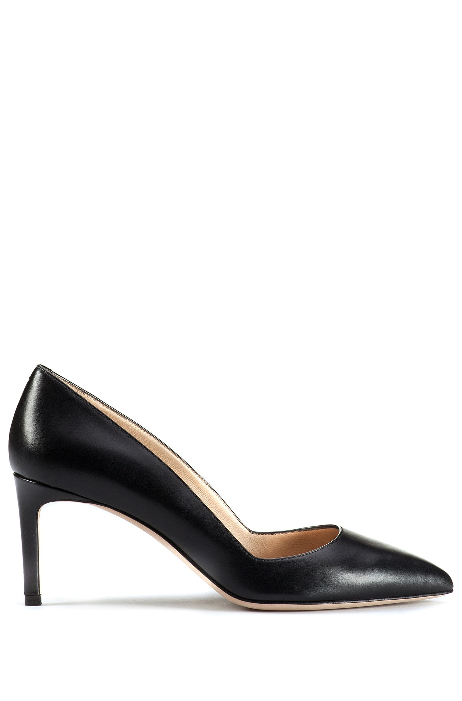 Leather pumps with a kitten heel: 'Hellia'