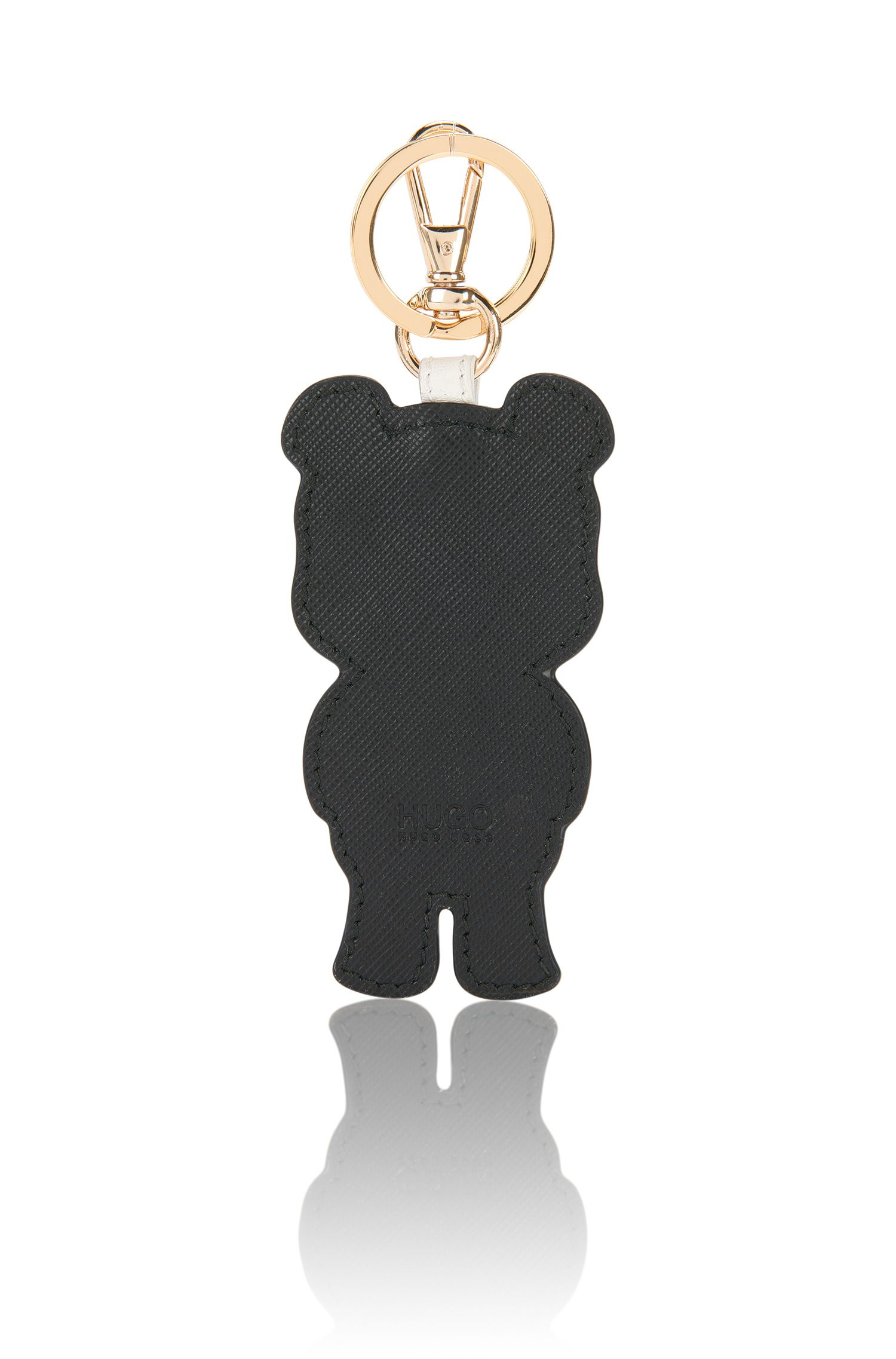 Schlüsselanhänger aus Leder mit Pandabär-Motiv: 'Kiki'