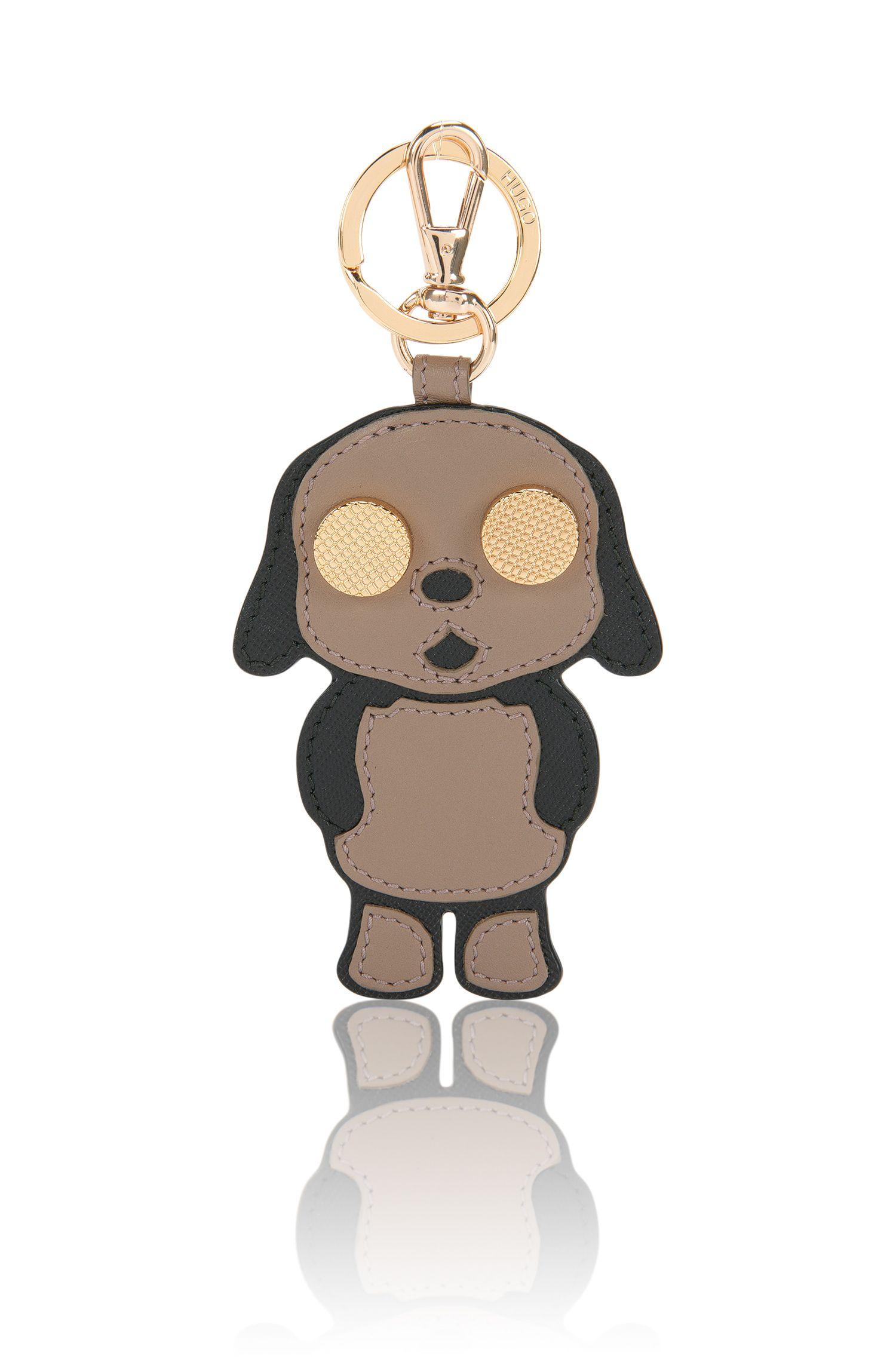 Schlüsselanhänger aus Leder mit Hunde-Motiv: 'Kim'