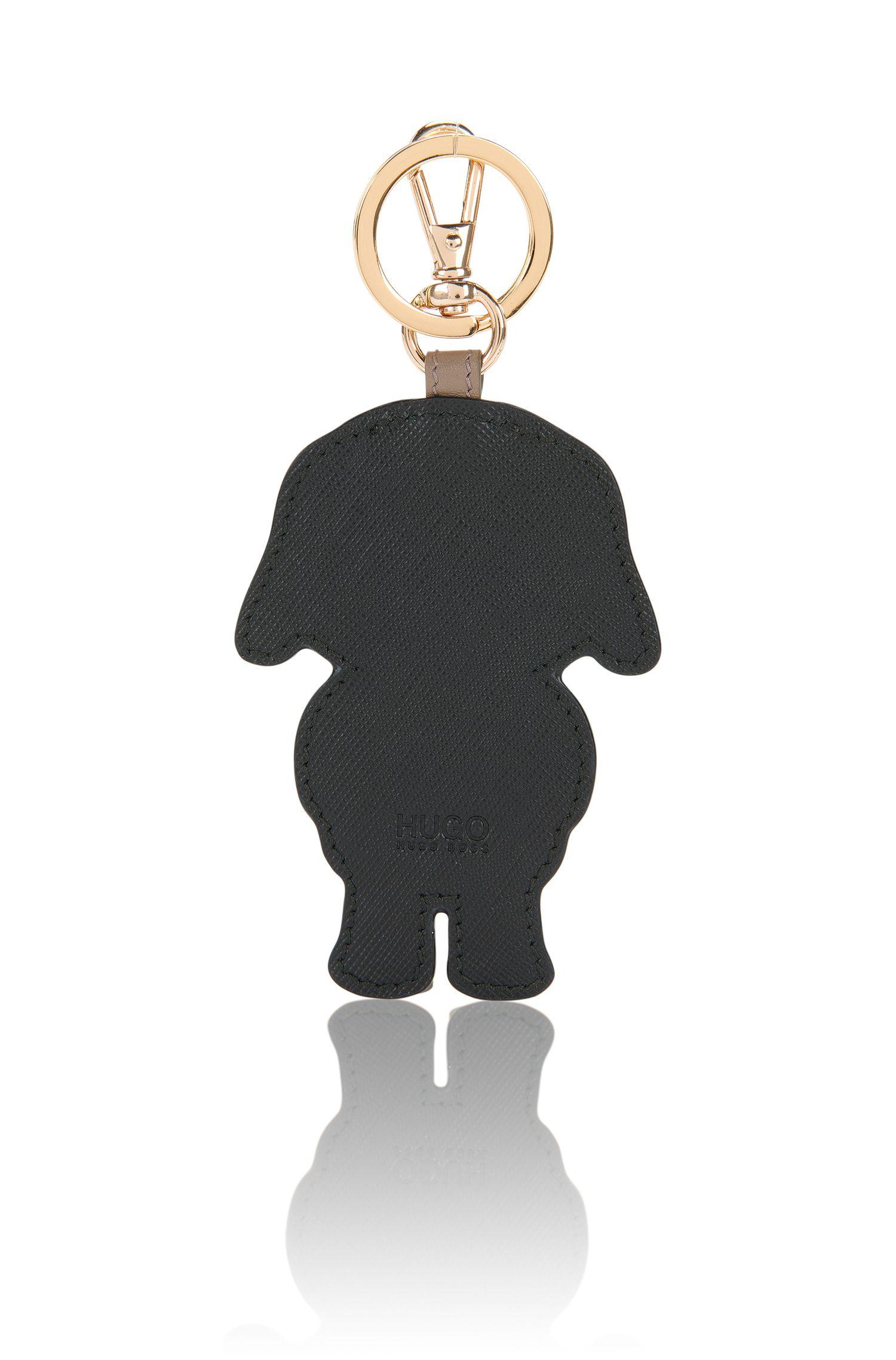 Porte-clés en cuir à motif chien: «Kim»