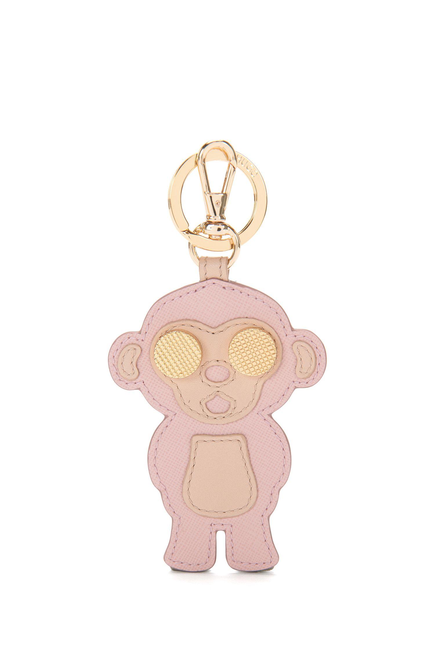 Schlüsselanhänger aus Leder mit Affen-Motiv: 'Karlie'