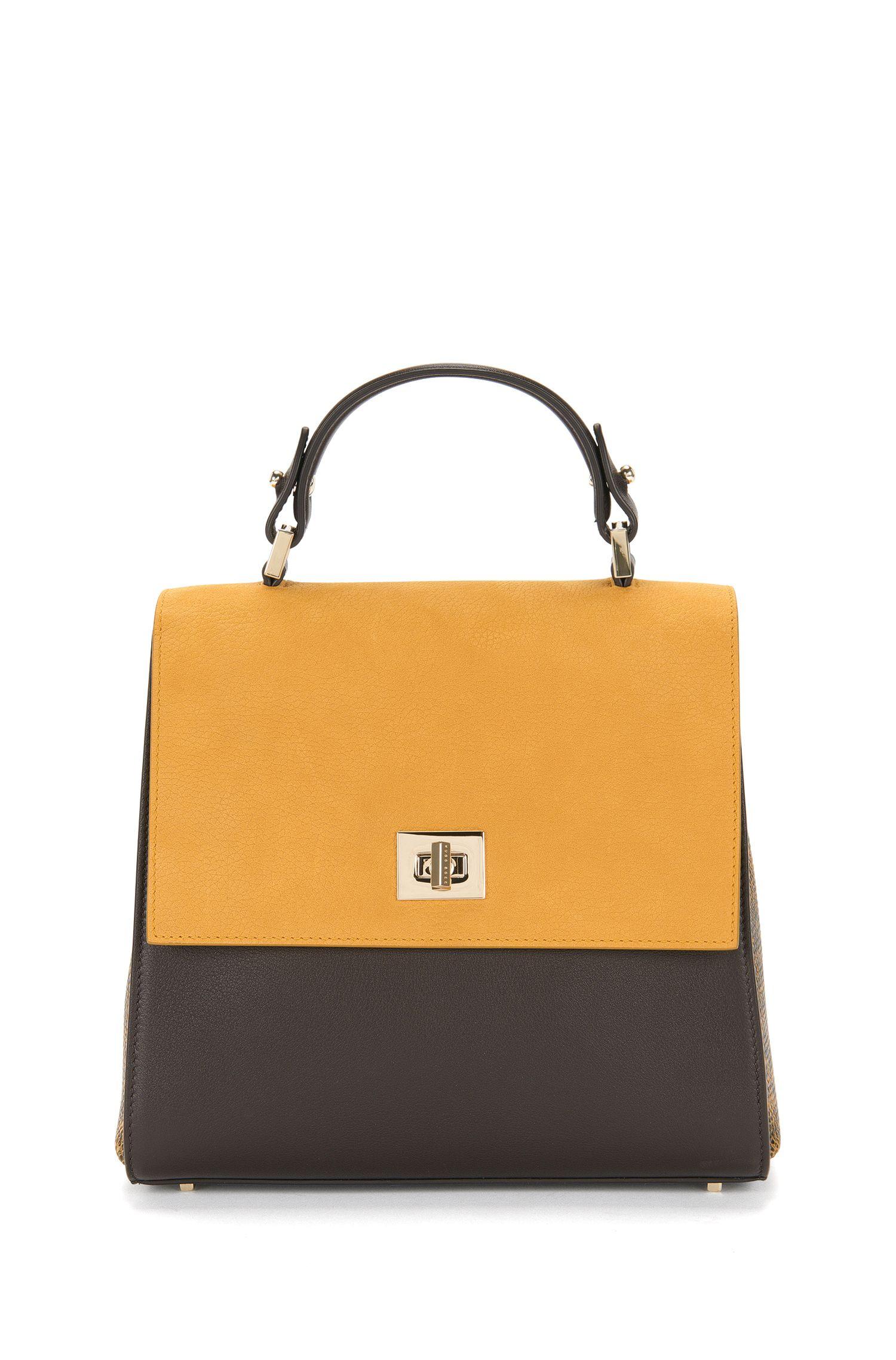 BOSS Bespoke Handtasche aus Leder im Struktur-Mix