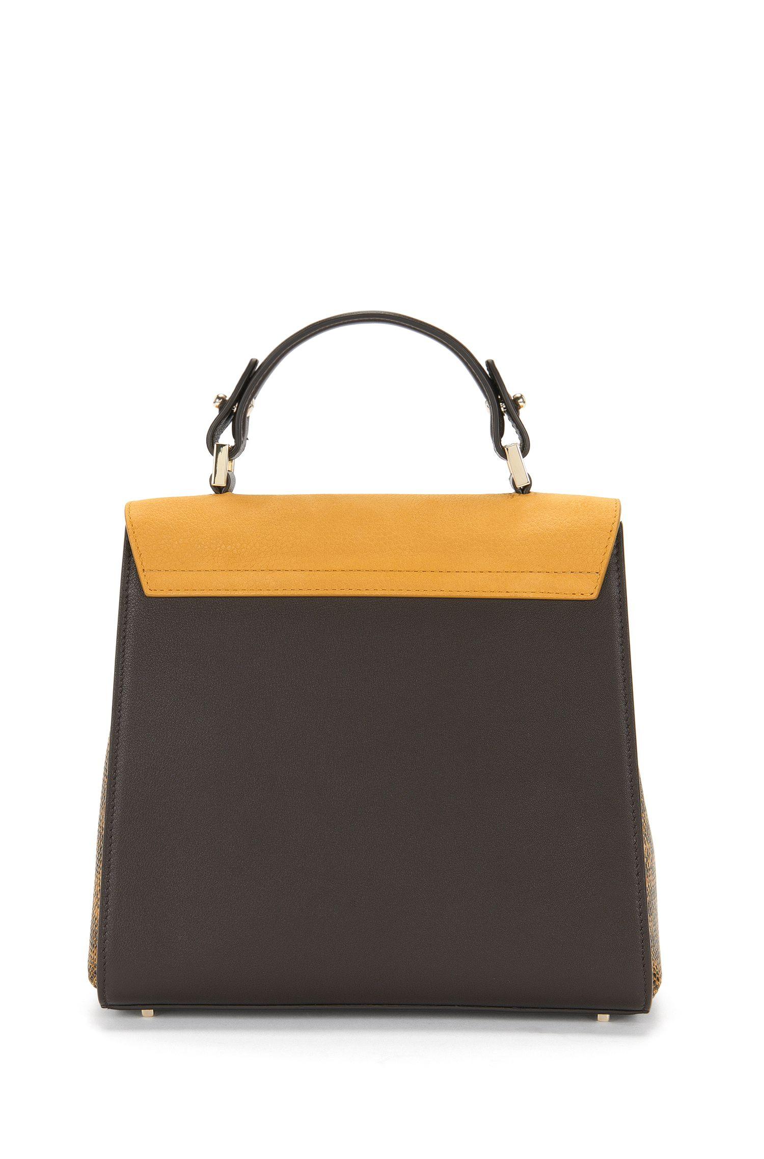 BOSS Bespoke-handtas van leer in een structuurmix