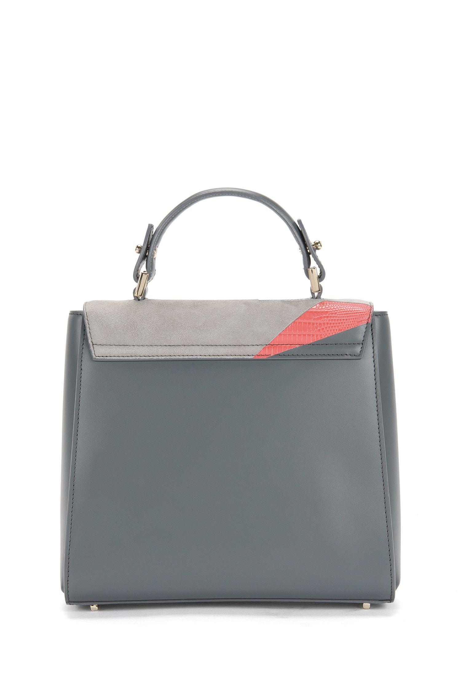 Kleine BOSS Bespoke Handtasche aus Leder im Struktur-Mix