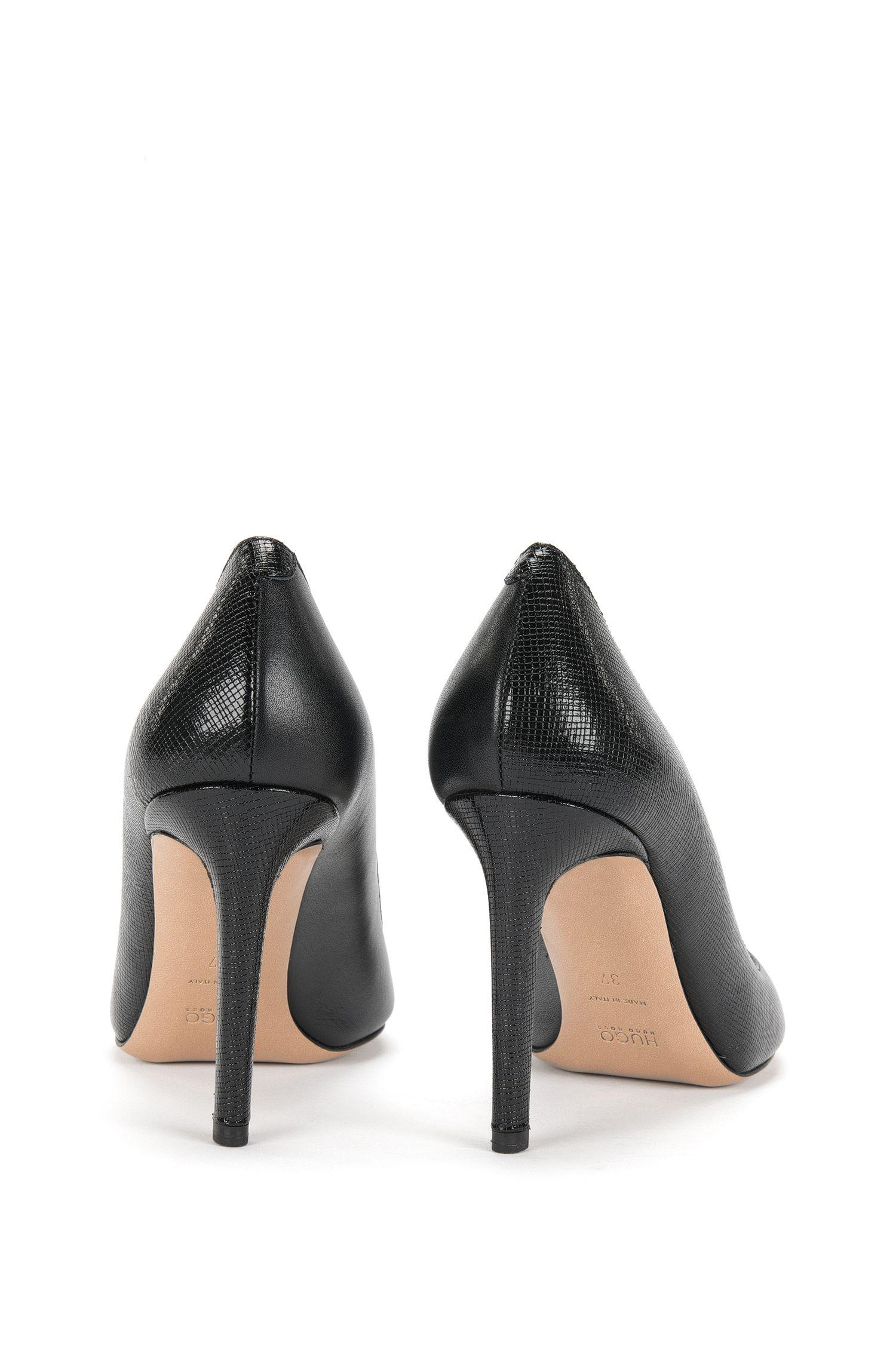 Chaussures en cuir à bout ouvert, ornées de différentes structures: «Ballet»