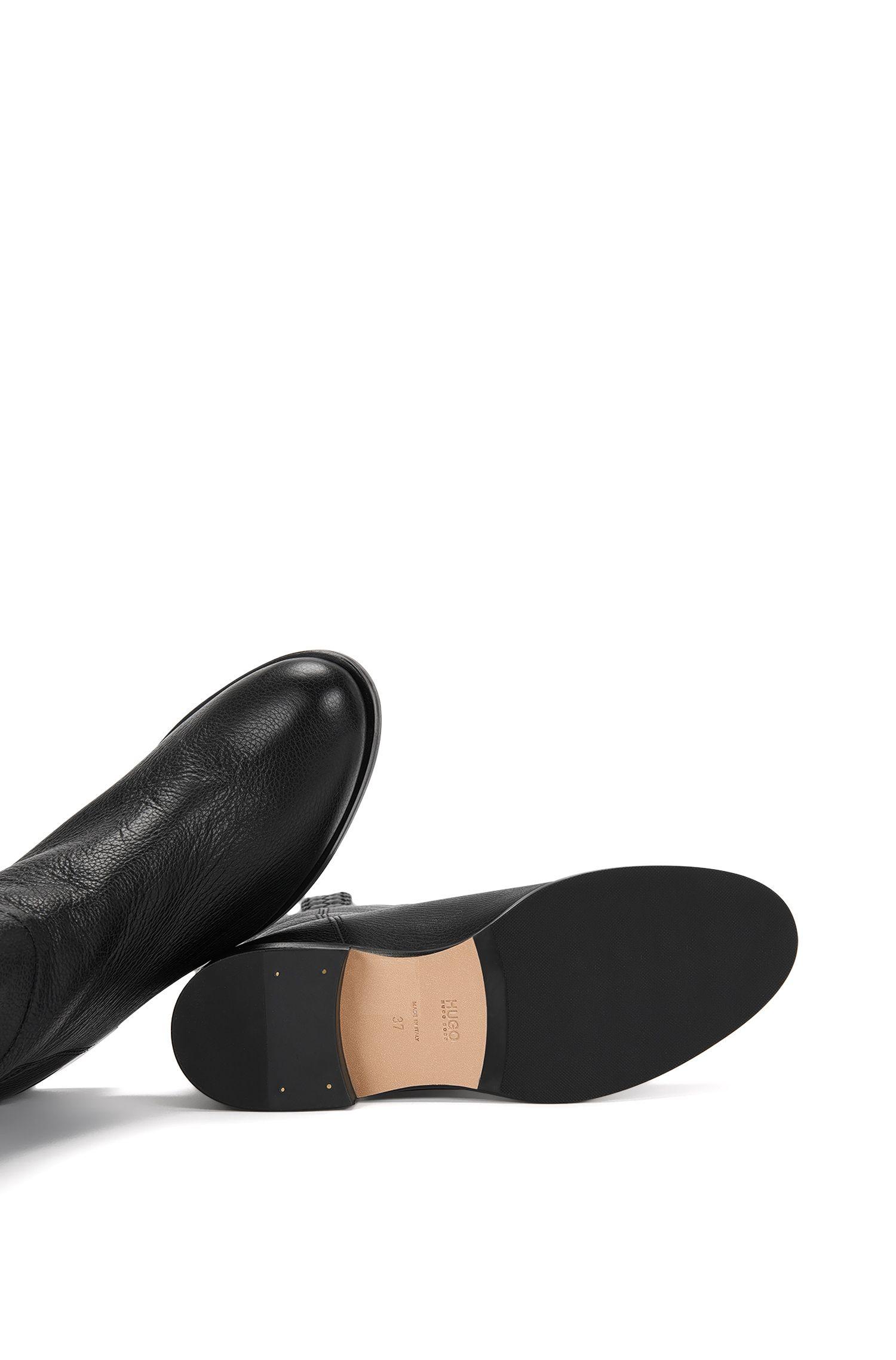 Warm gevoerde laarzen van leer: 'Gablin'