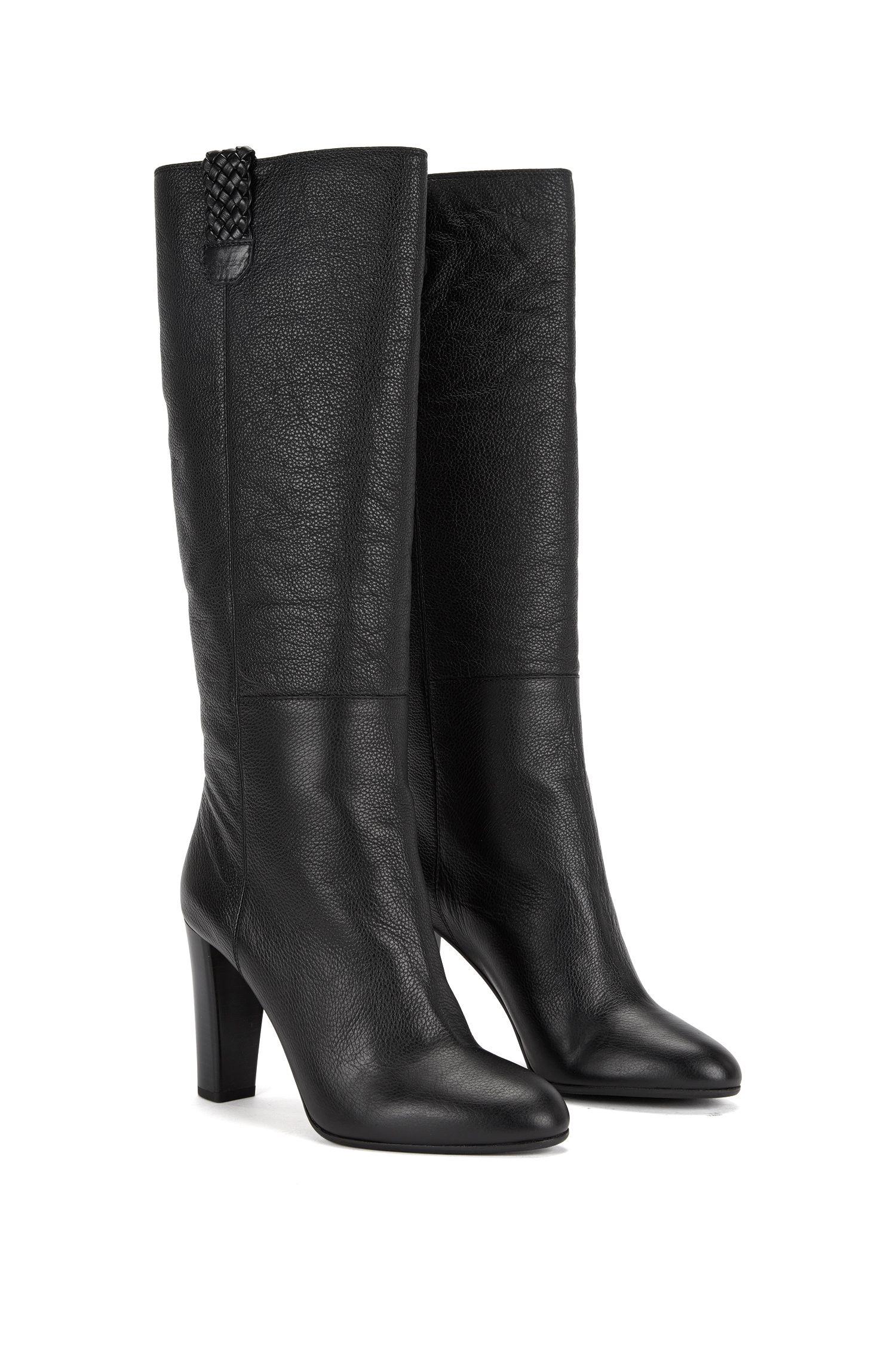 Stiefel aus Leder mit Flecht-Details: 'Gilland'