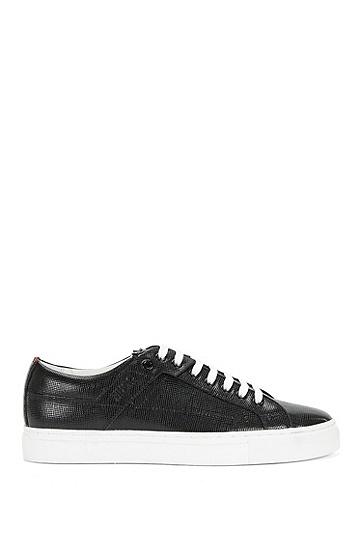 Sneakers aus strukturiertem Leder: 'Corynna-VS', Schwarz