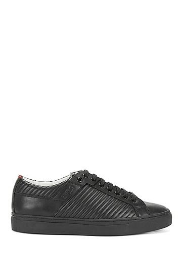 Sneakers aus Leder mit Steppnähten: 'Corynna-M', Schwarz