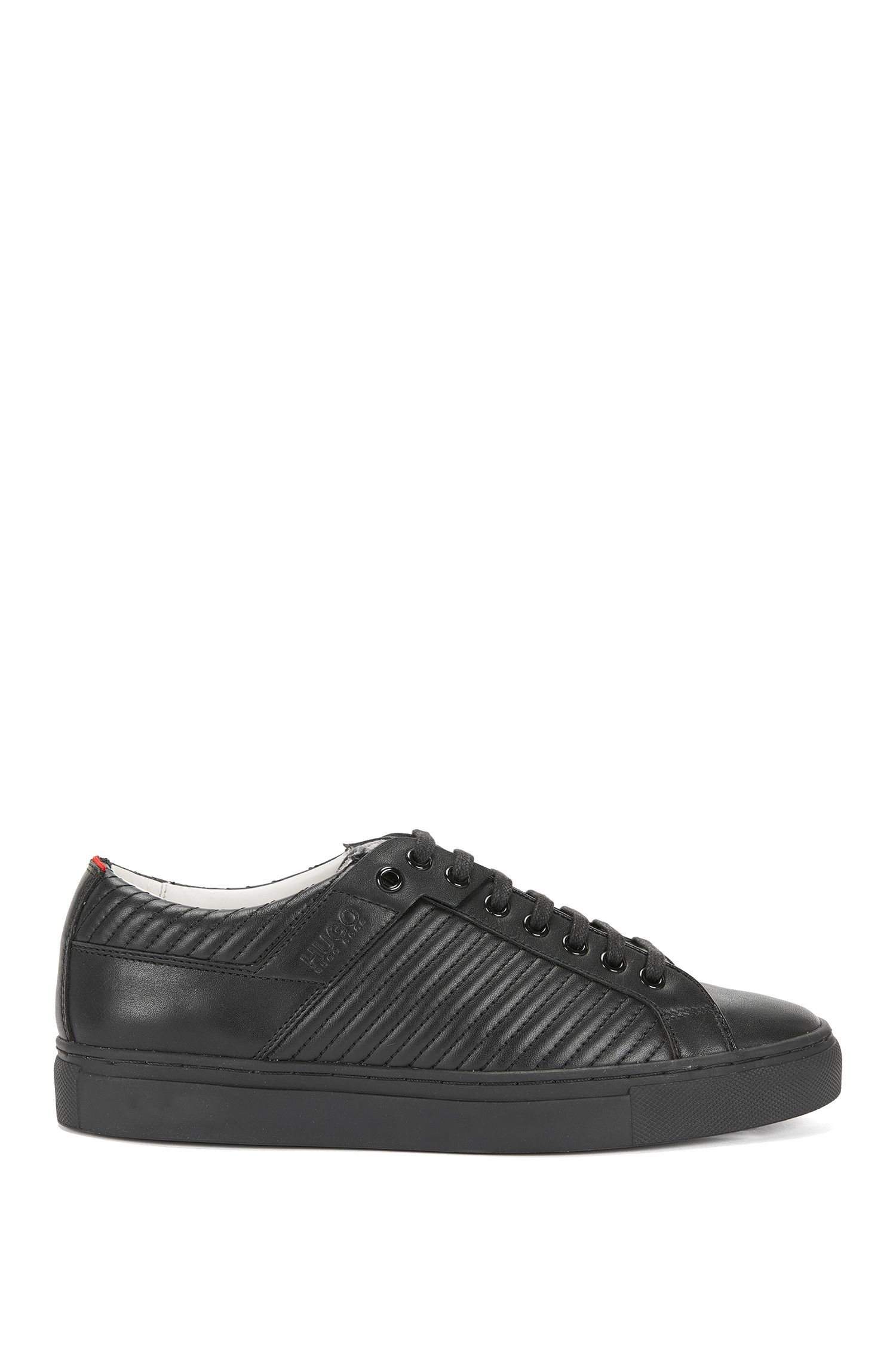 Leather trainers with topstitching: 'Corynna-M'