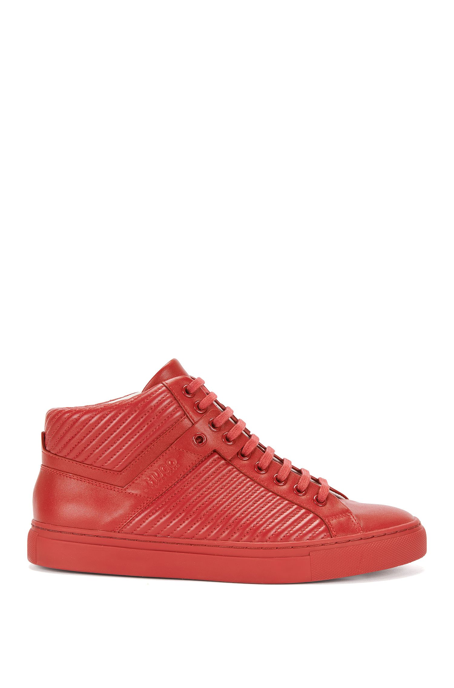 Leather trainers with fluted texture: 'Cerys-M'