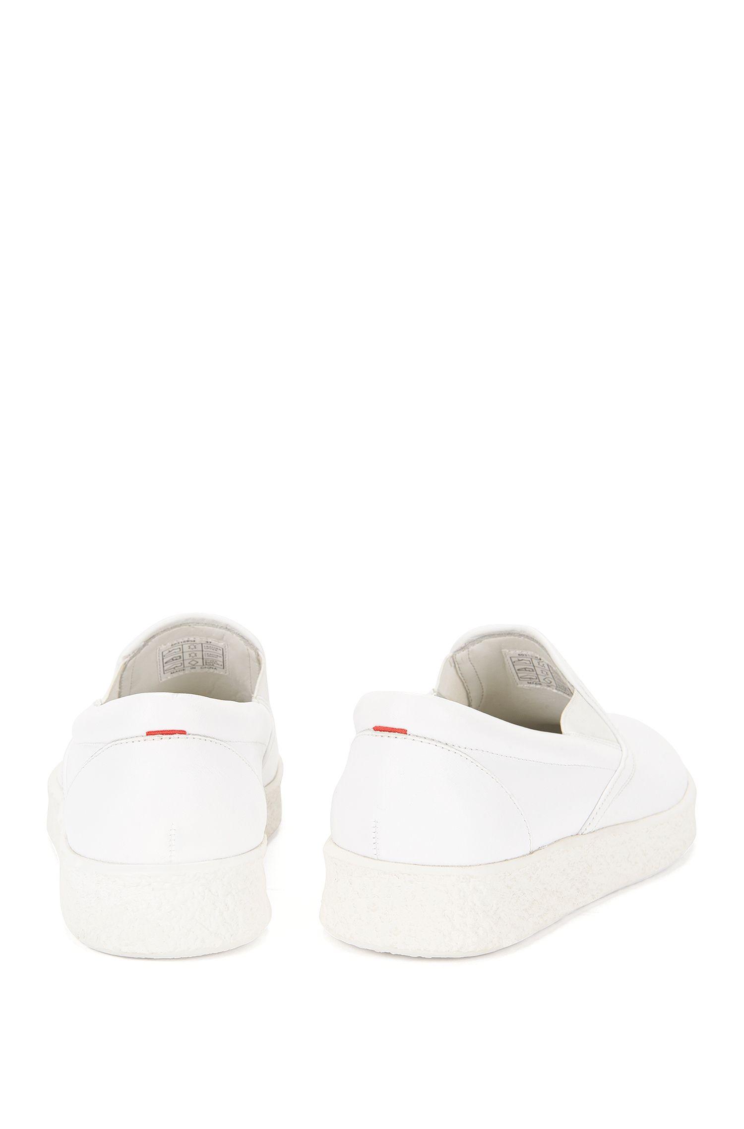 Sneakers aus Leder mit Plateausohle: 'Cleah-Crepe'