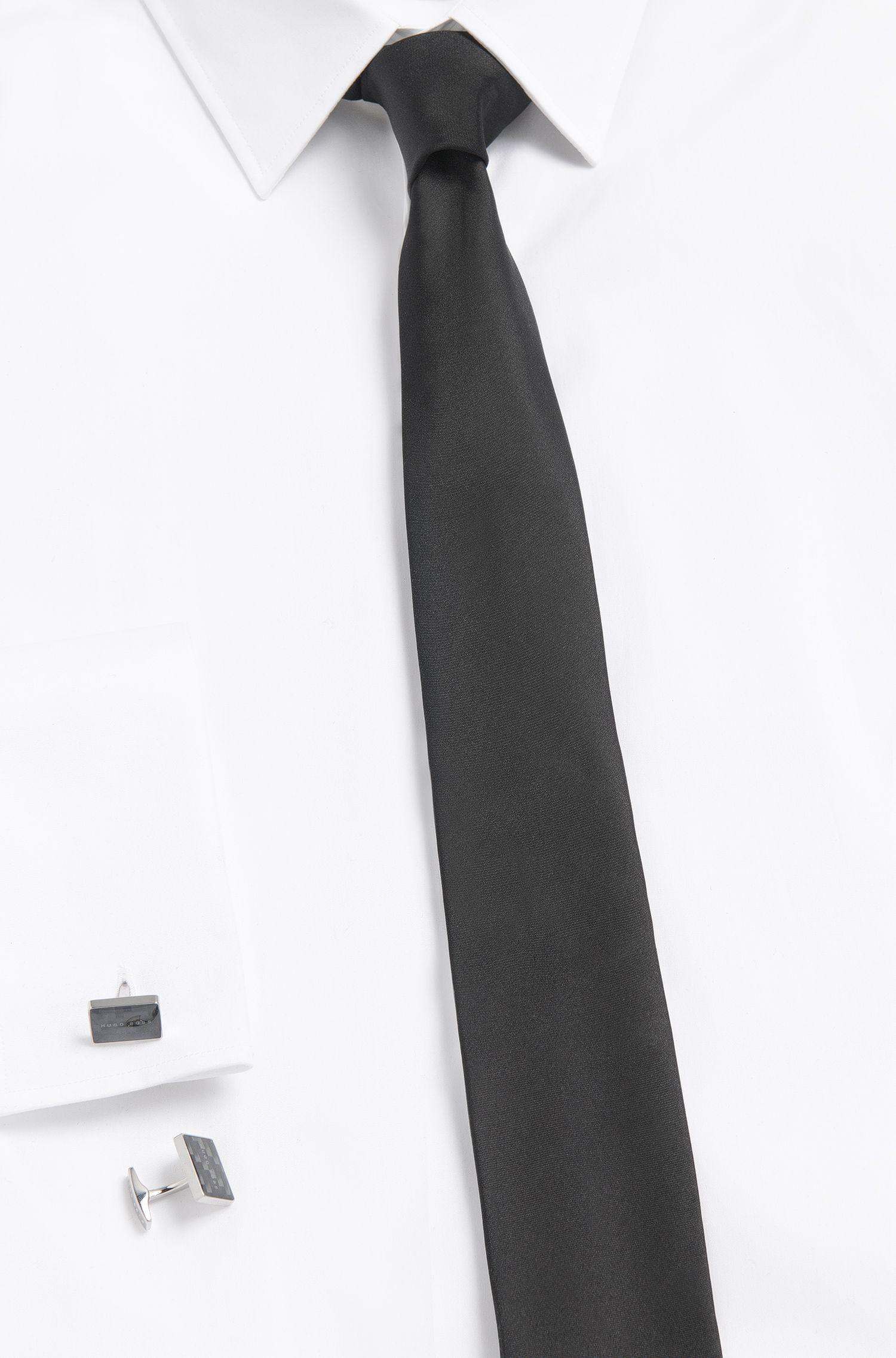 Manschettenknöpfe aus Messing mit Carbonfaser-Detail: 'Miki'