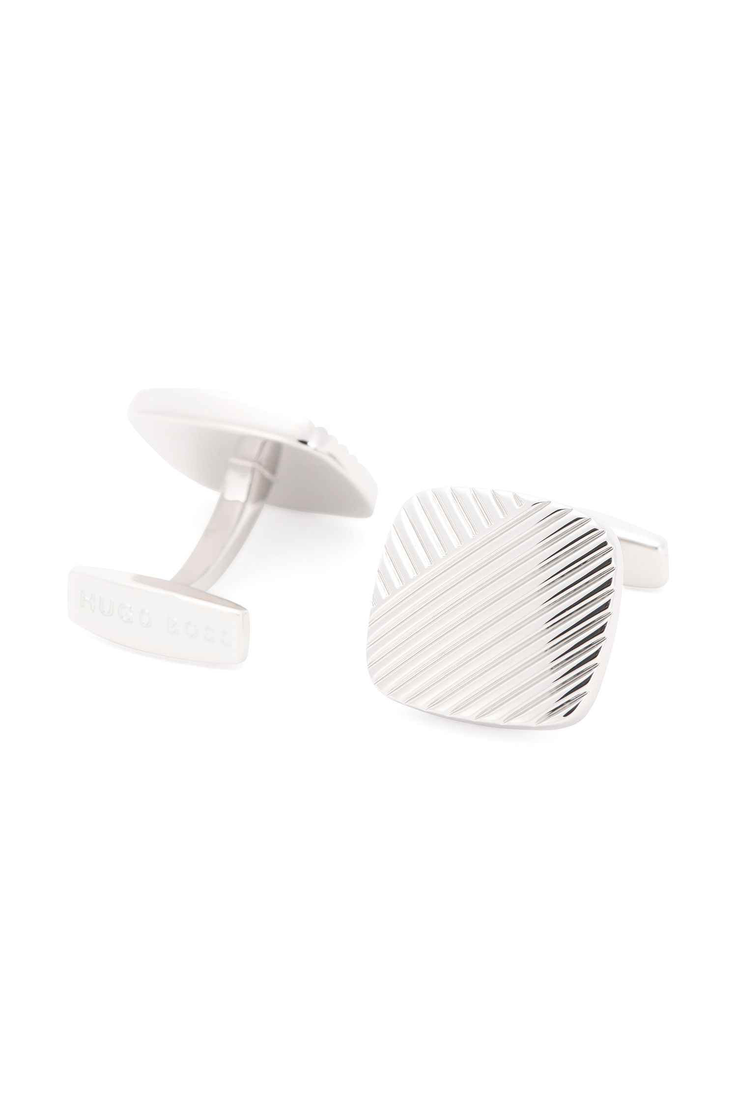 Cufflinks with fluted texture: 'Bruno'