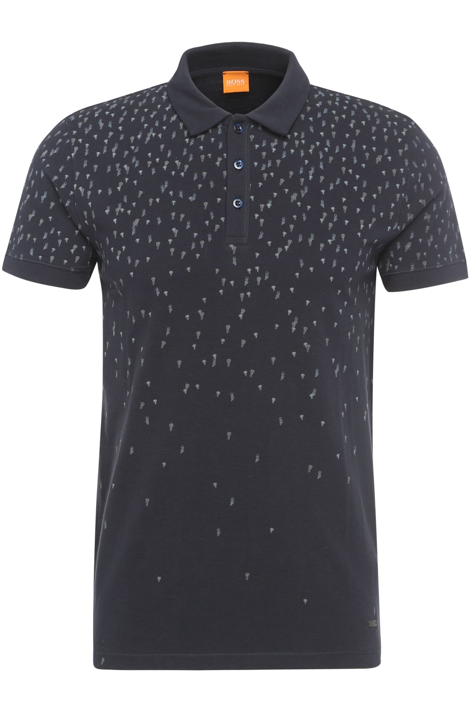 Printed polo shirt in cotton: 'Portt'