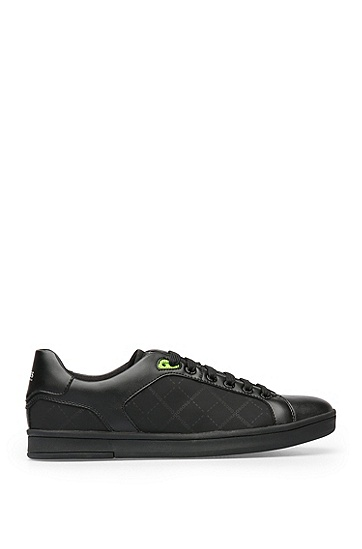 Sneakers in Leder-Optik mit Textilpartien: ´RayAdv_Tenn_nypr`, Schwarz