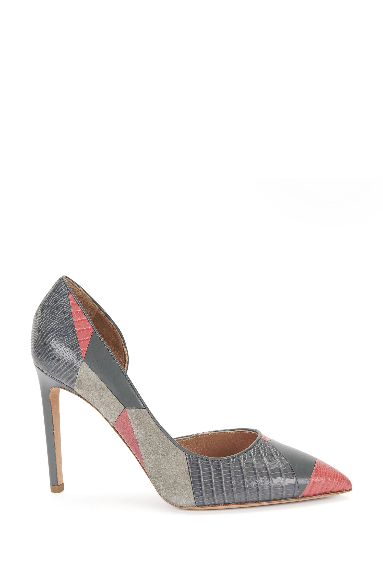 Leather pumps in patchwork style: 'Intarsia D100'