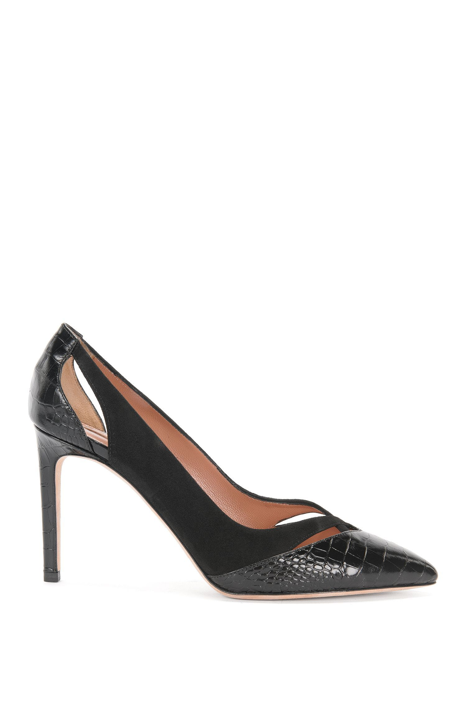 Leather pumps in a mixture of textures: 'Lady Like Lizard'