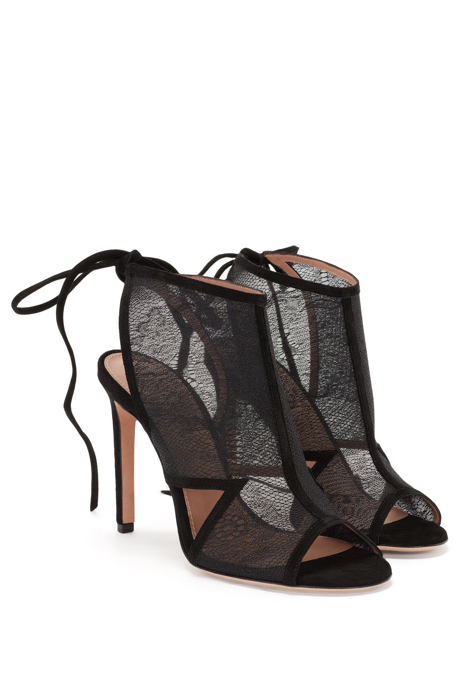 Sandaletten mit Spitzen-Front und rückseitiger Schnürung: 'Lady Sandal 100'