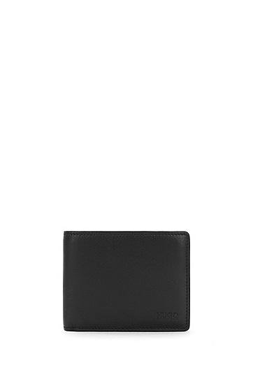 Kleinformatige Geldbörse aus Leder: 'Subway_6 cc', Schwarz