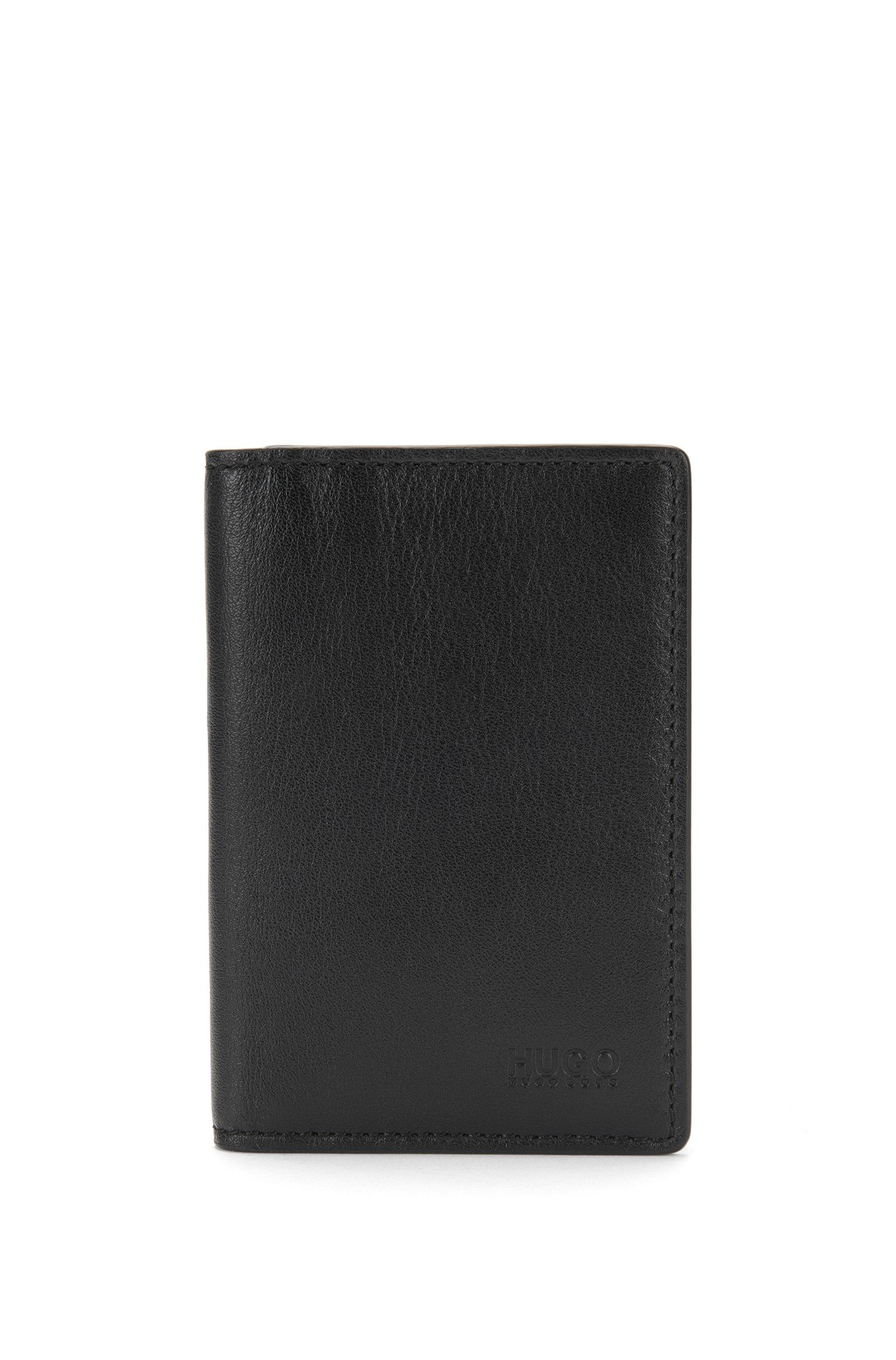 Flip-style card case in leather: 'Subway_B card'