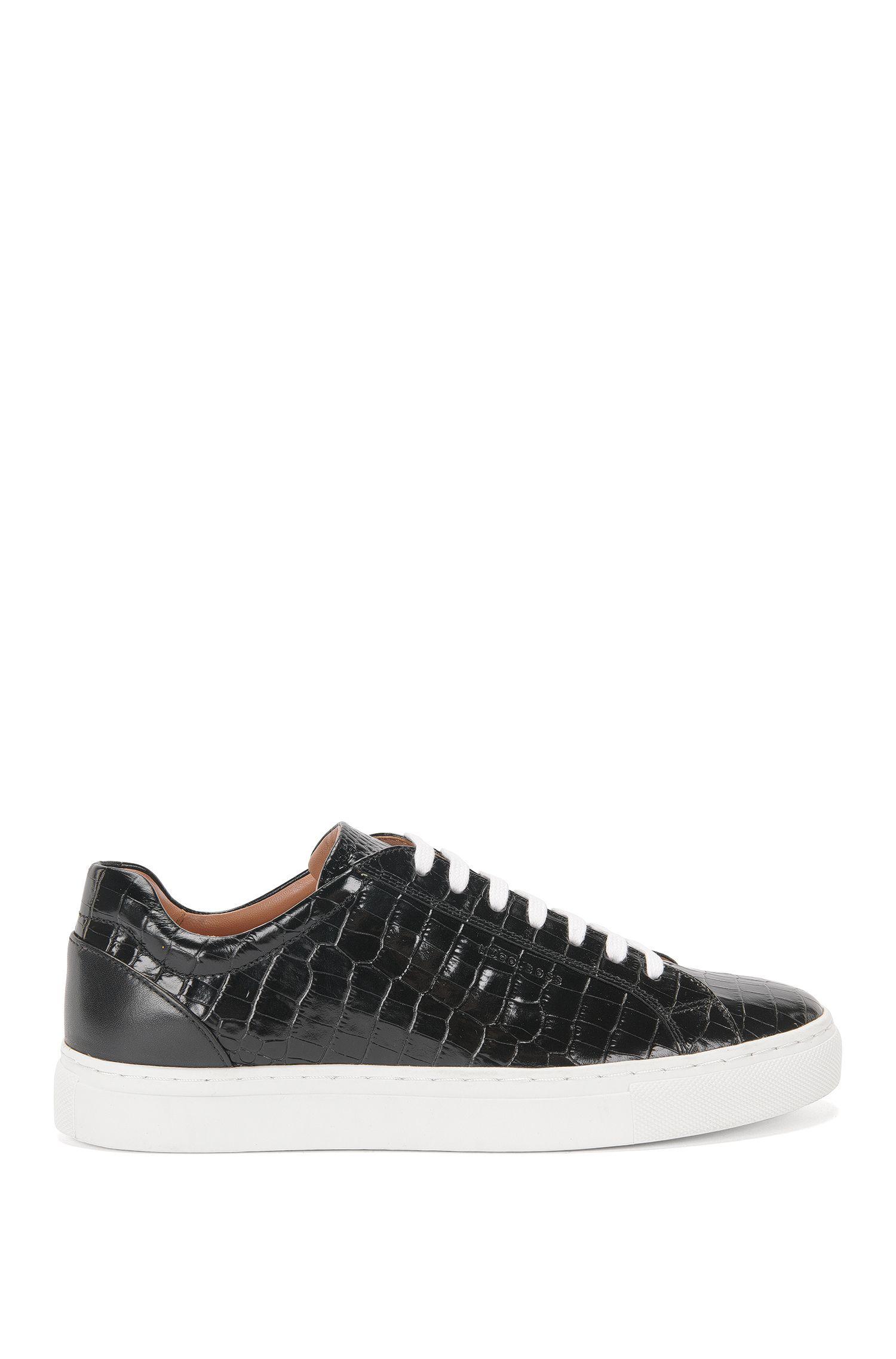 Sneakers aus geprägtem Leder: 'Low Cut-CL'