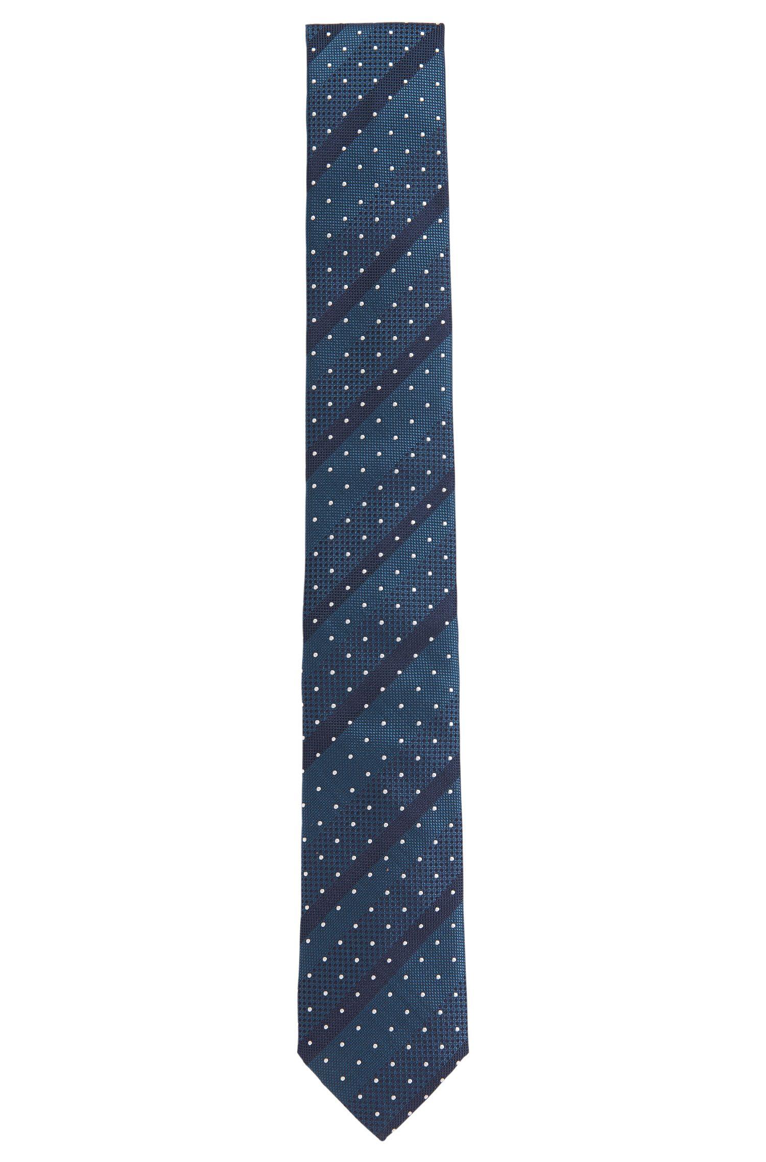 Cravate en soie avec mélange de motifs: «Tie6cm»