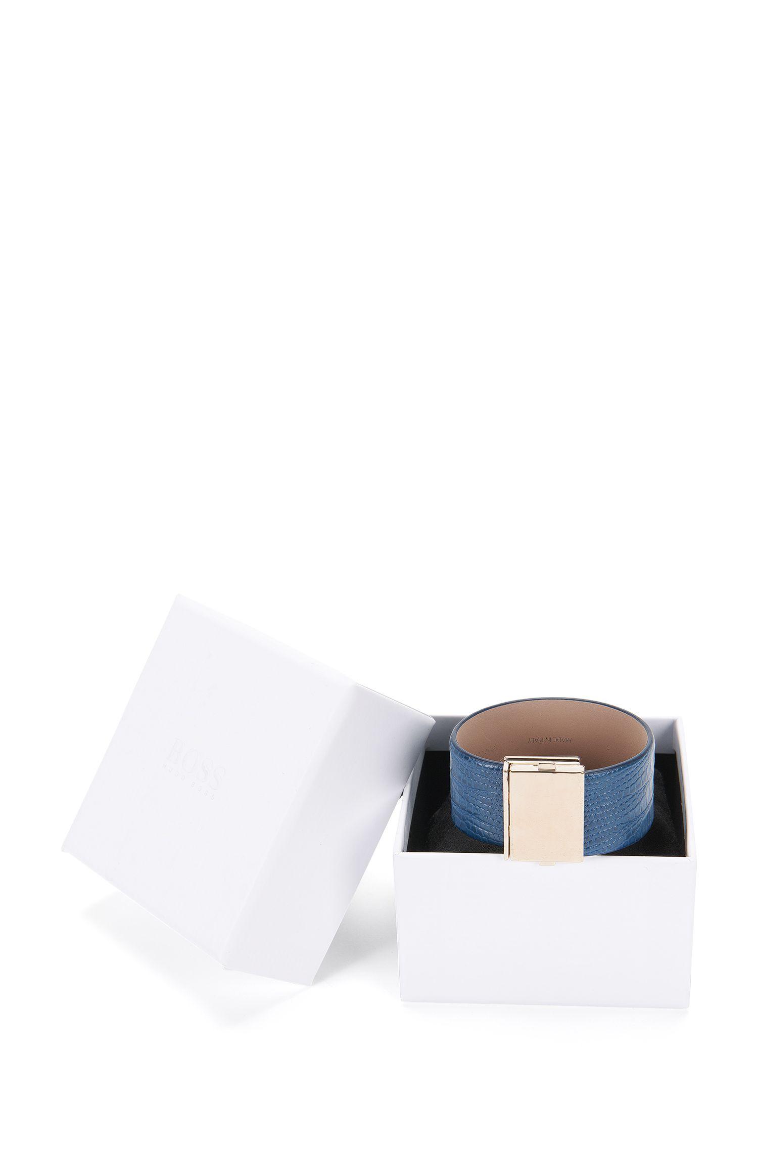 Bracelet en cuir doté d'une fermeture clip: «Romi Bracelet-L»