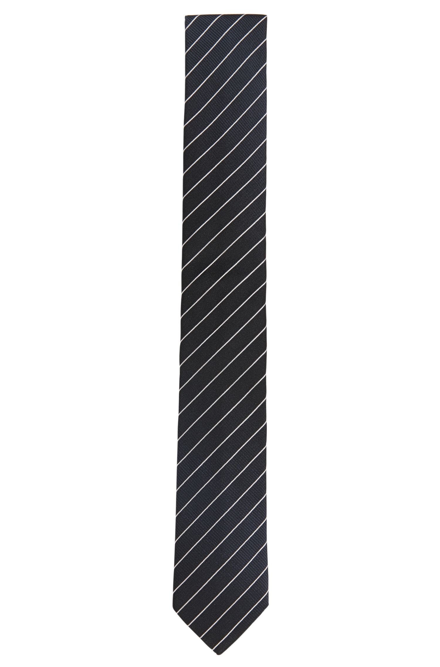 Cravate rayée en soie: «Tie6cm»