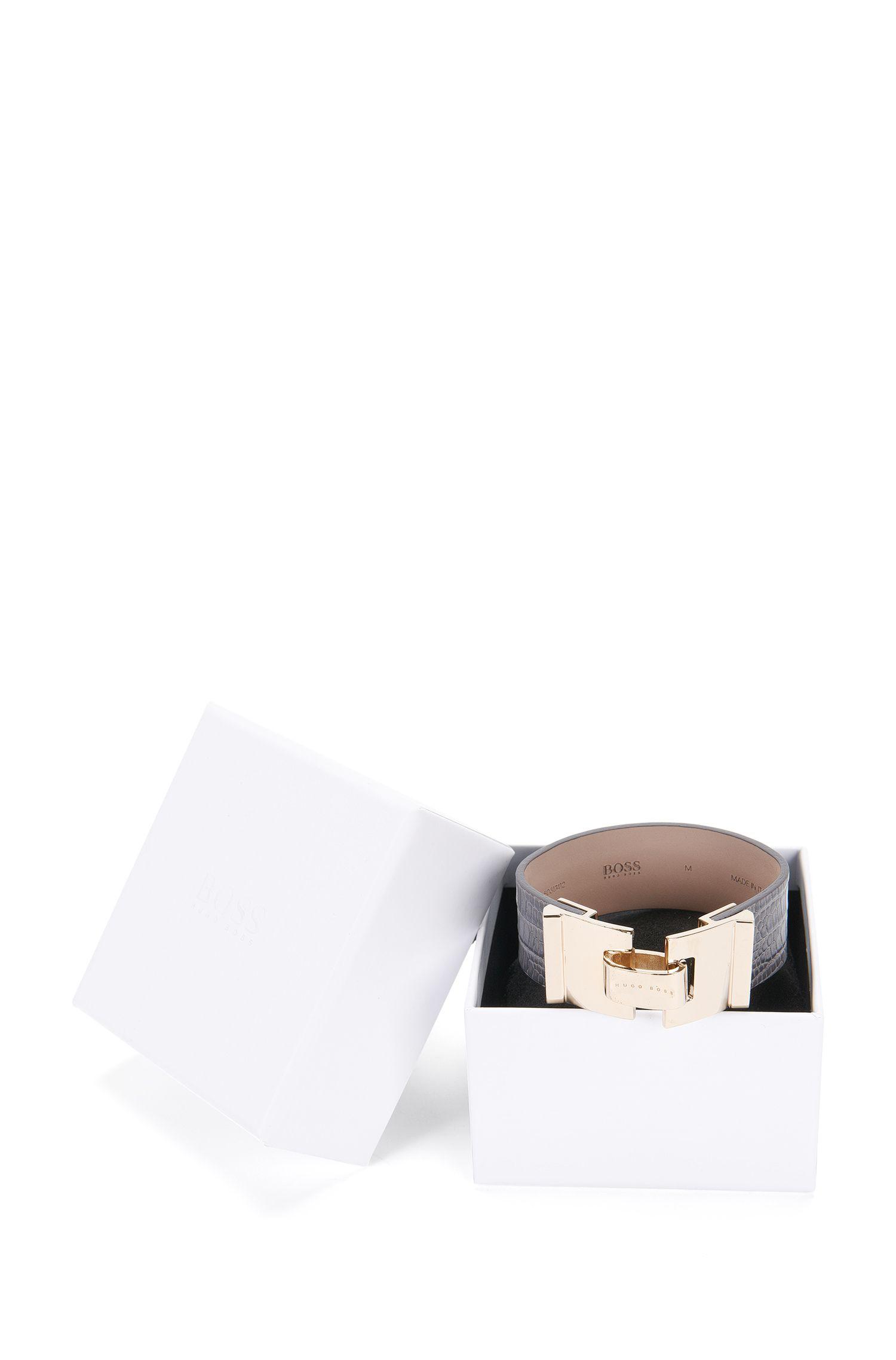 Arbmand aus geprägtem Leder: 'Grace Bracelet-L'