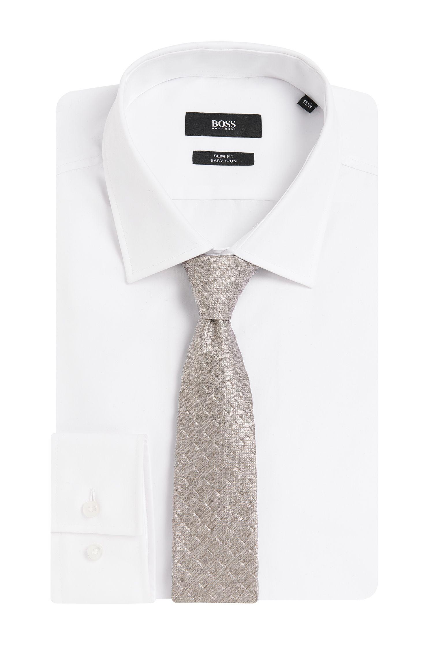 Fein gemusterte Krawatte aus strukturierter Seide: 'Tie 6 cm'
