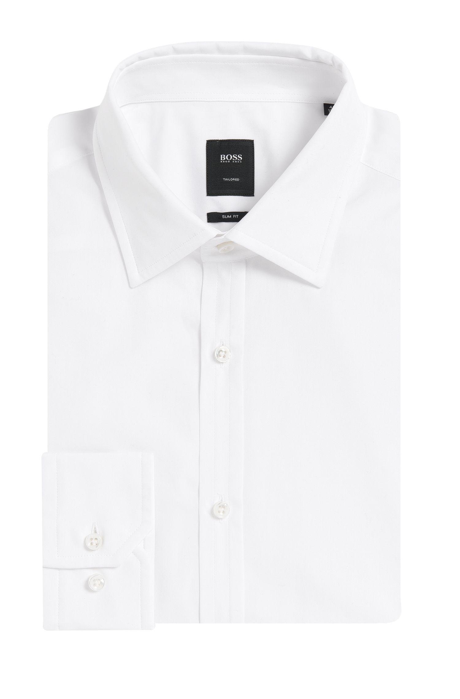 Chemise Slim Fit Tailored en pur coton: «T-Shane»
