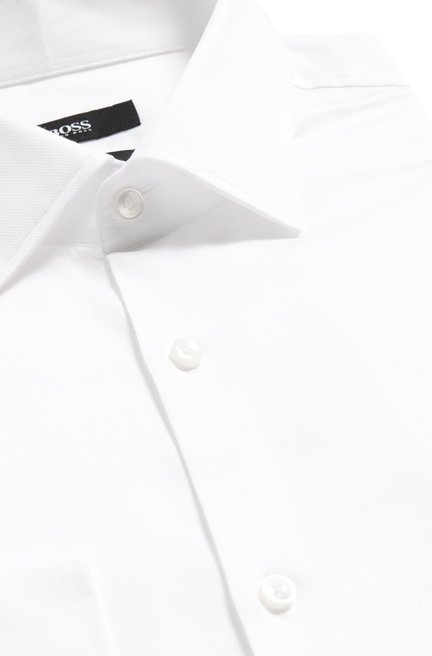 Chemise Slim Fit légèrement structurée en coton: «Jenno»