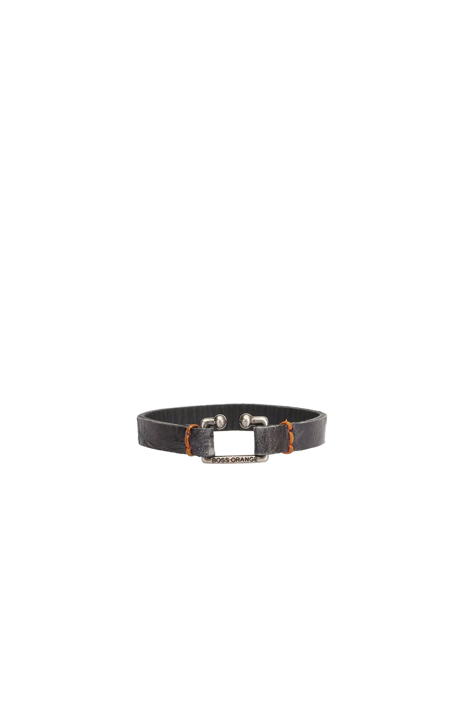 Bracelet en cuir à la finition grenée originale: «Morris»