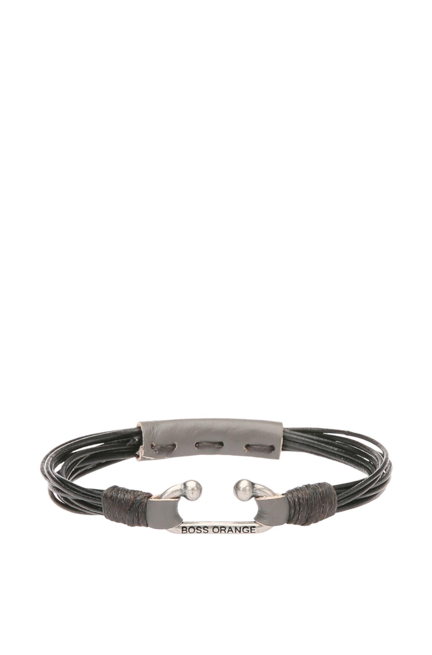 Bracelet en cuir avec fermeture en métal: «Milos»