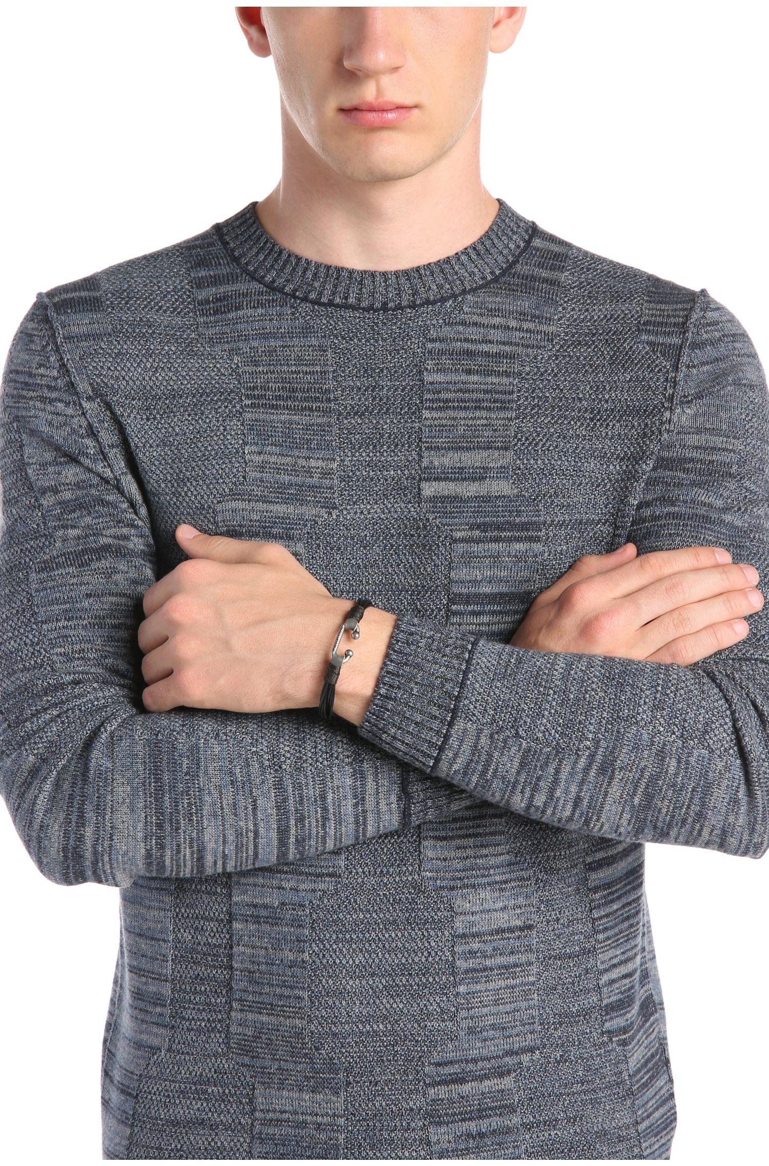 Armband aus Leder mit Metallverschluss: ´Milos`
