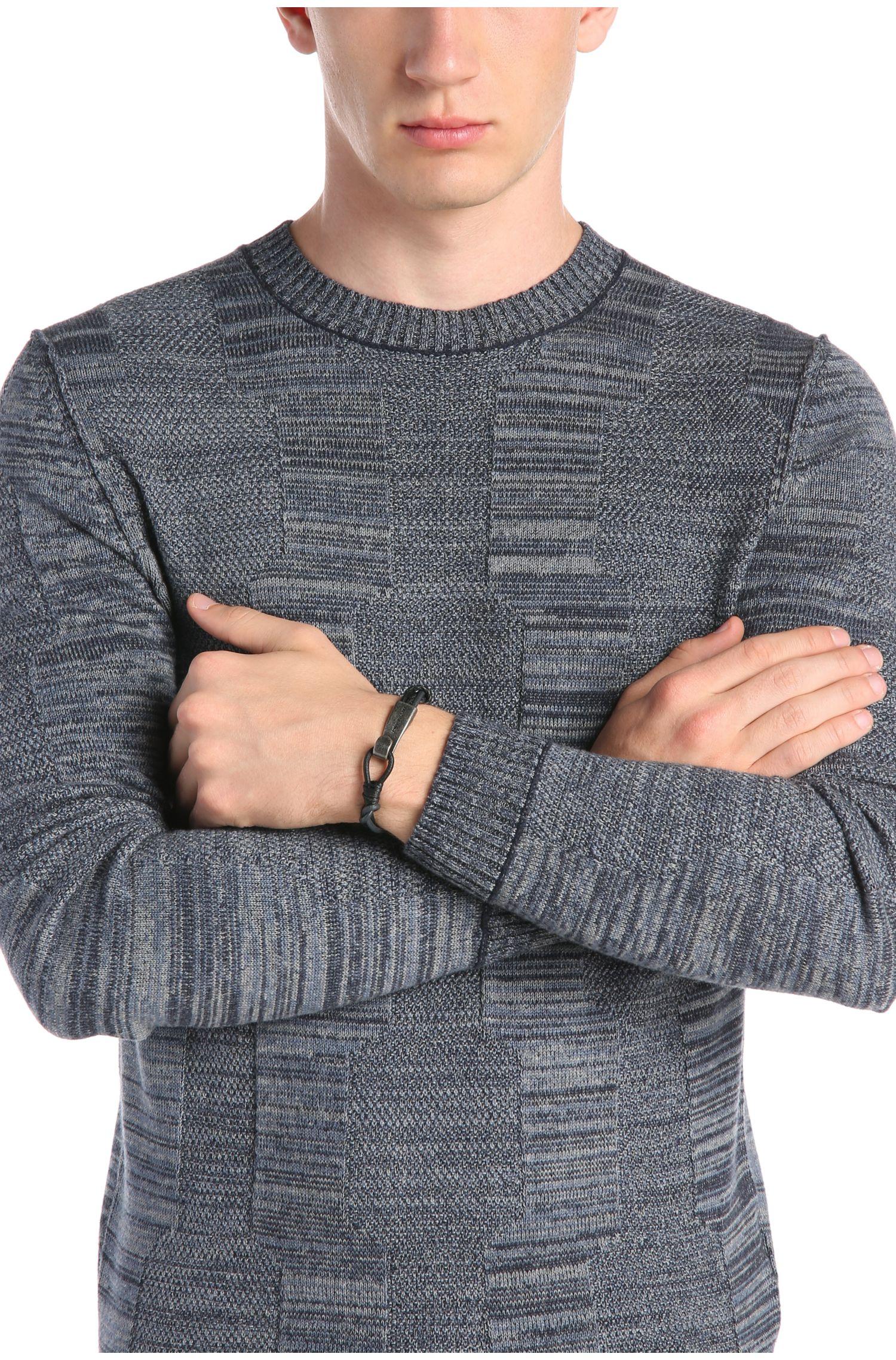 Geflochtenes Armband aus Leder mit Metallverschluss: ´Medwin`