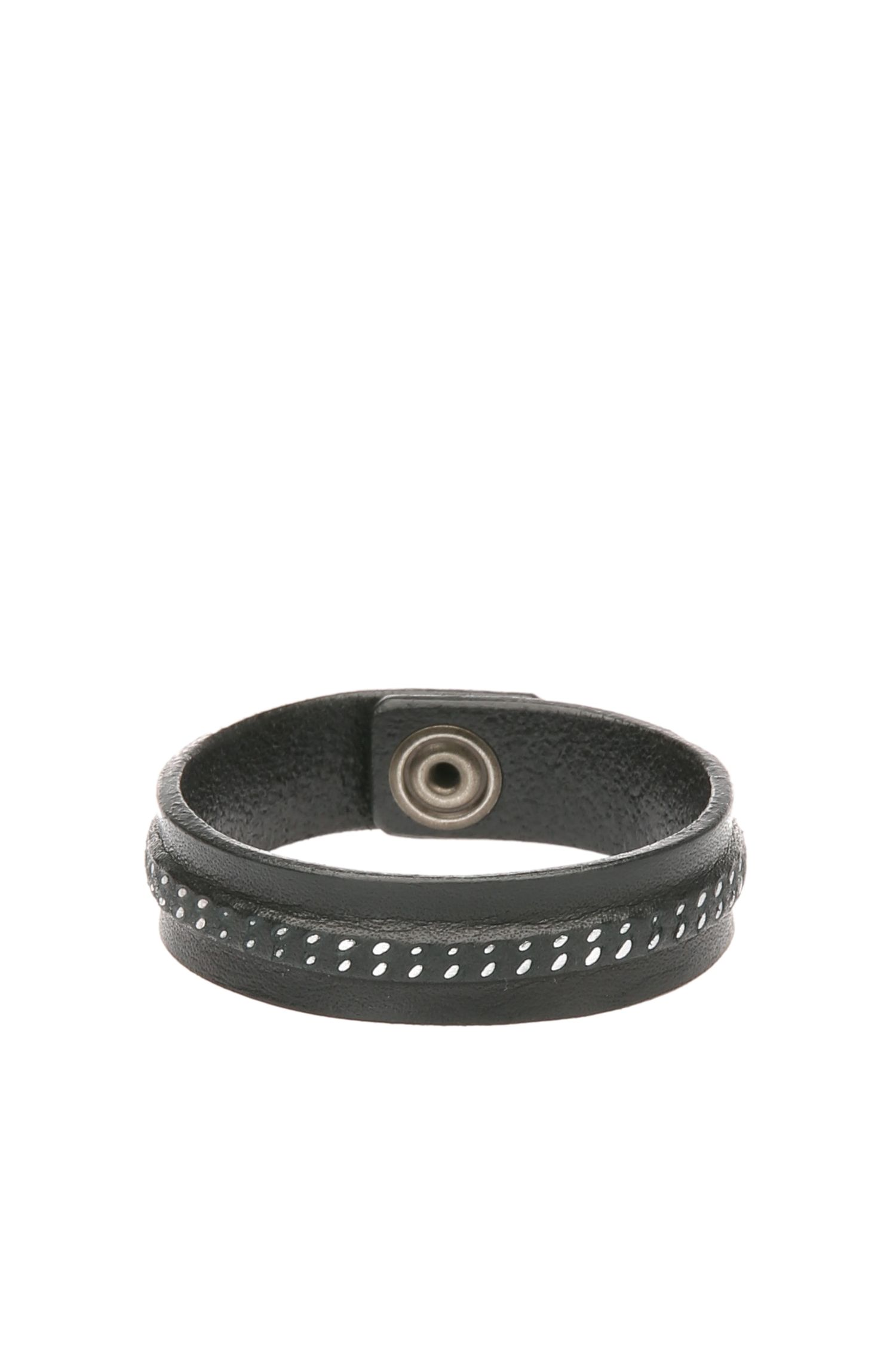 Bracelet en cuir avec couture décorative: «Mavis»