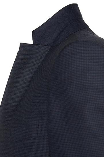 Regular-Fit Anzug aus Schurwolle mit dezentem Muster: 'T-Howard2/Court4', Dunkelblau