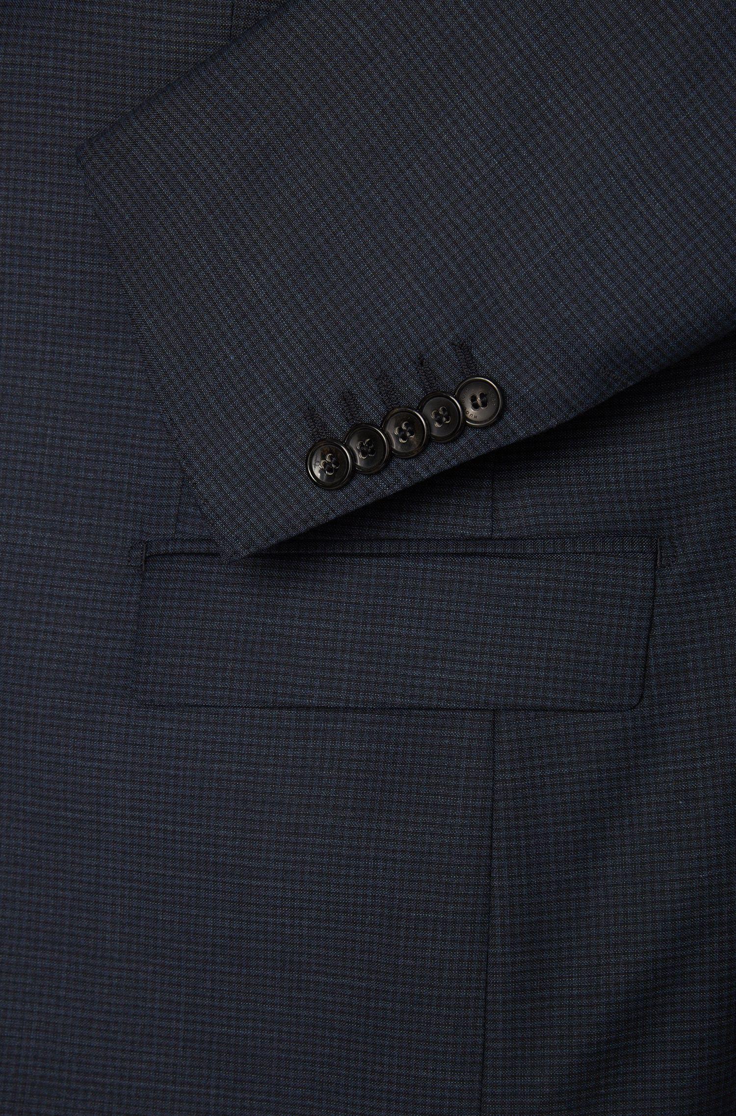 Regular-fit kostuum van scheerwol met subtiel dessin: 'T-Howard2/Court4'