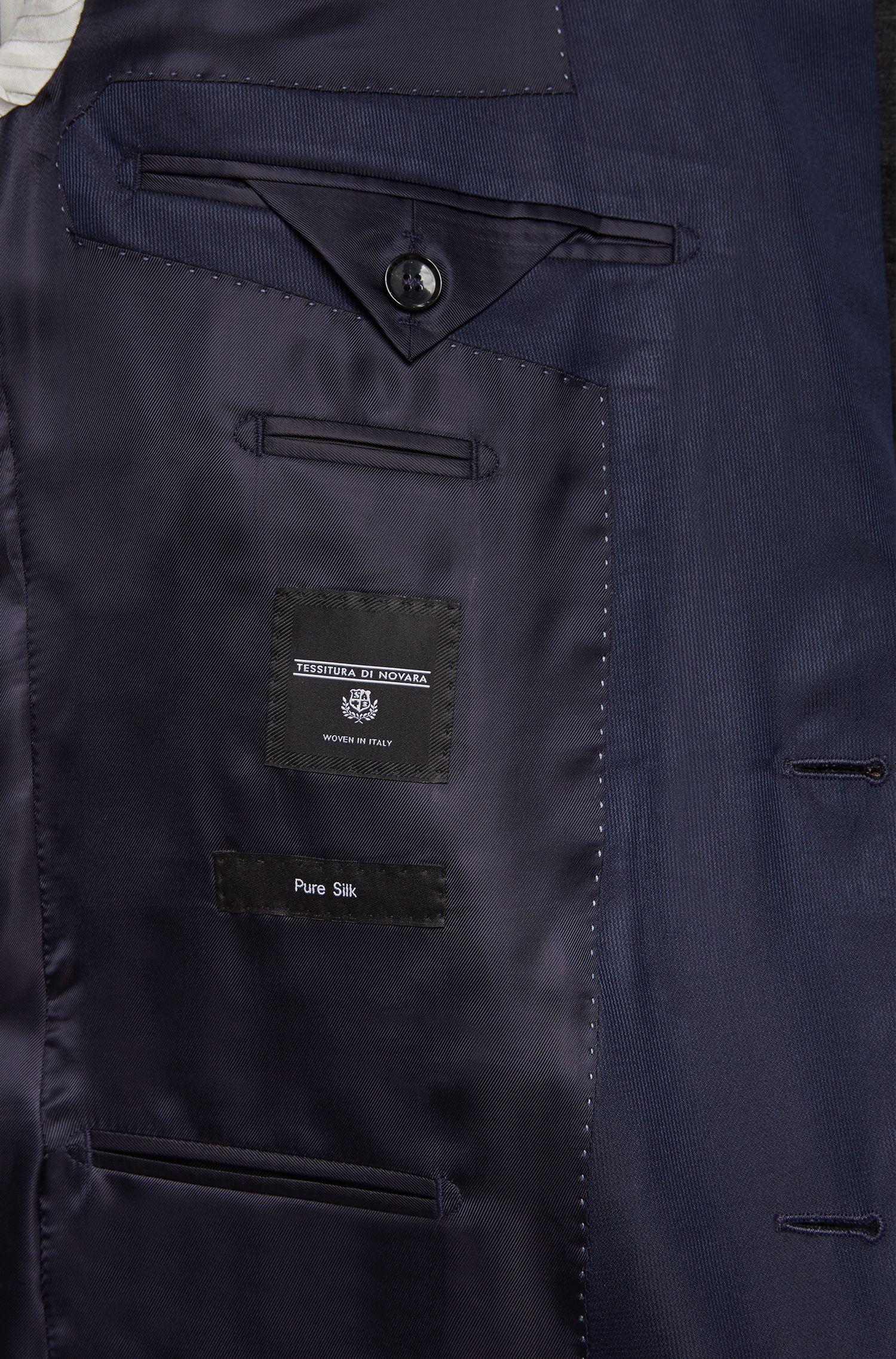 Slim-fit kostuum van zuivere zijde uit de Tailored-collectie: 'T-Harvers1/Glover1'