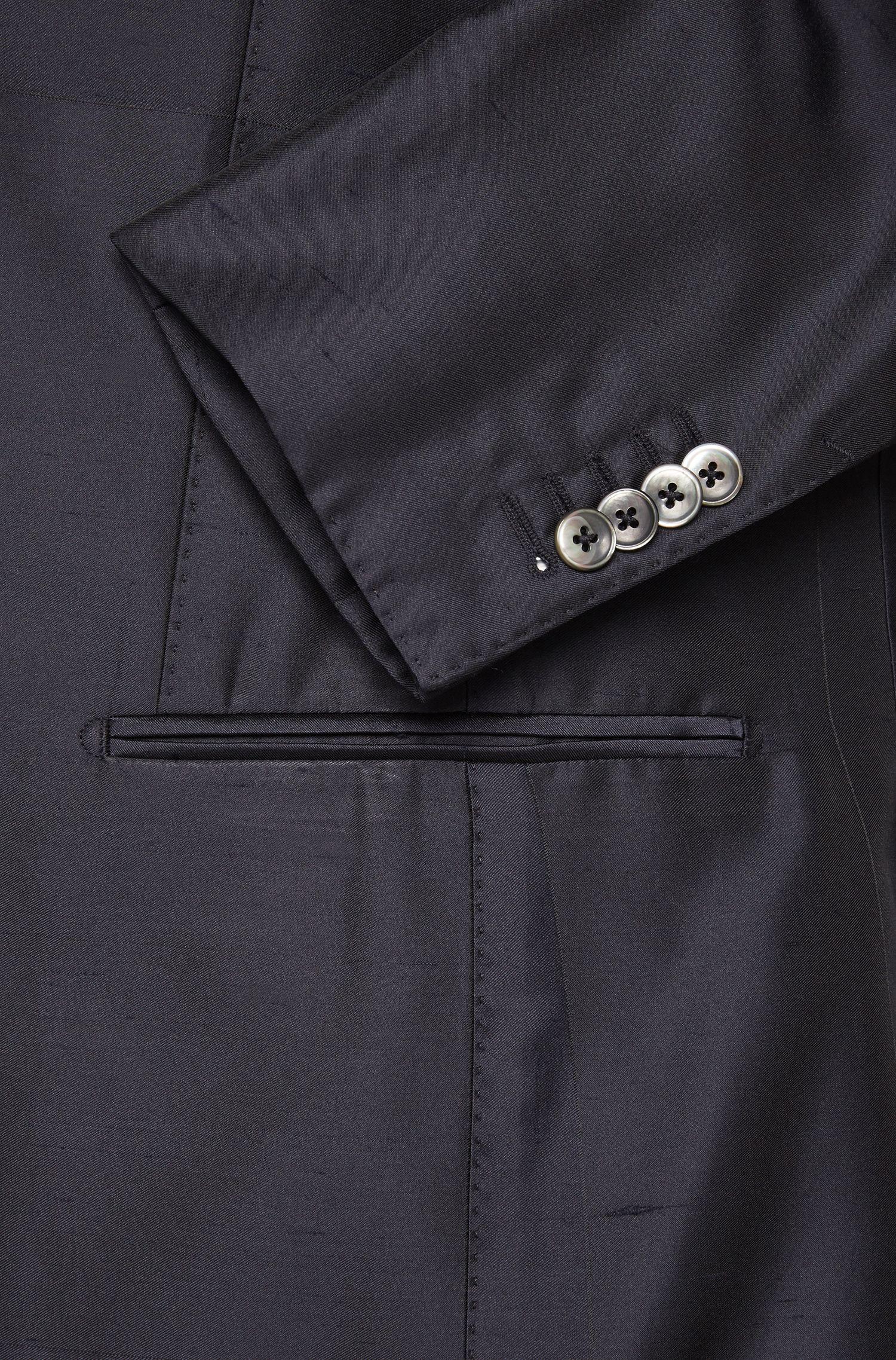 Slim-Fit Tailored Anzug aus Material-Mix mit Seide: 'T-Neal-Basil'