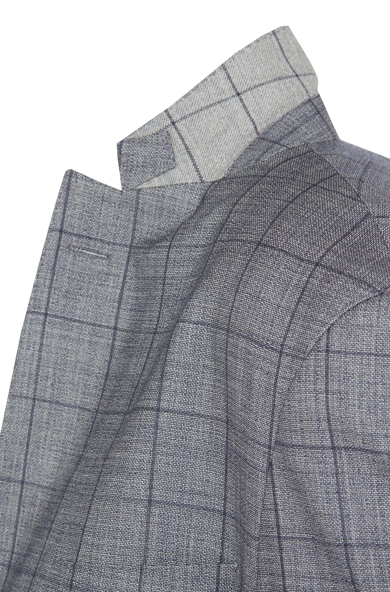 Karierter Slim-Fit Anzug aus reiner Schurwolle: 'T-Neal/Basil'