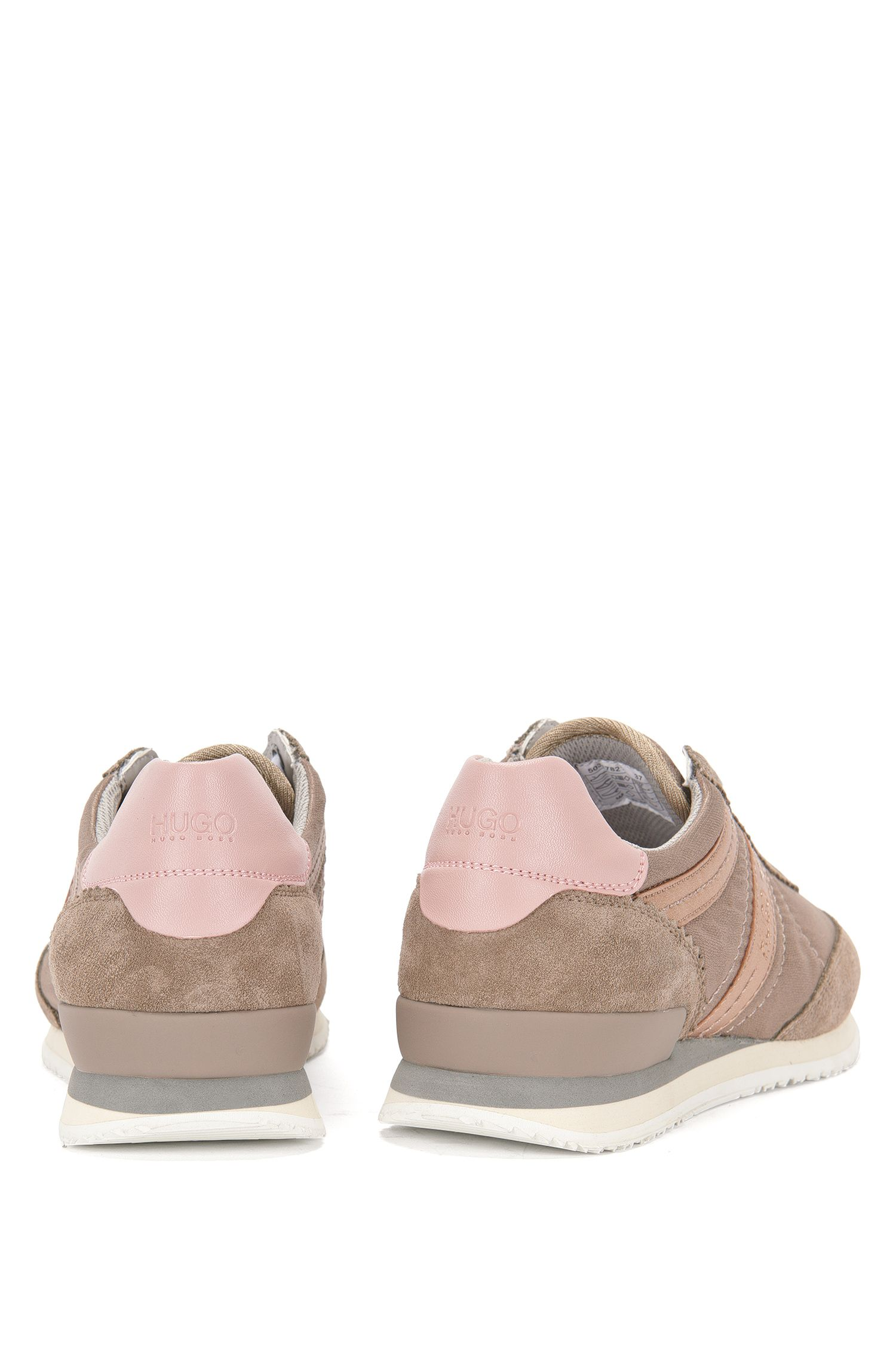 Sneakers met leren garneersels: 'Adreny-S'
