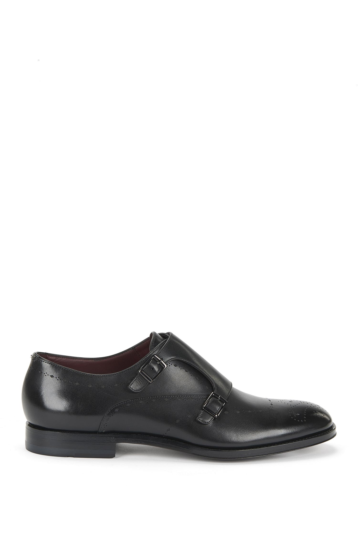 Tailored double monk shoes in leather: 'T-Sartoria_Monk_It'