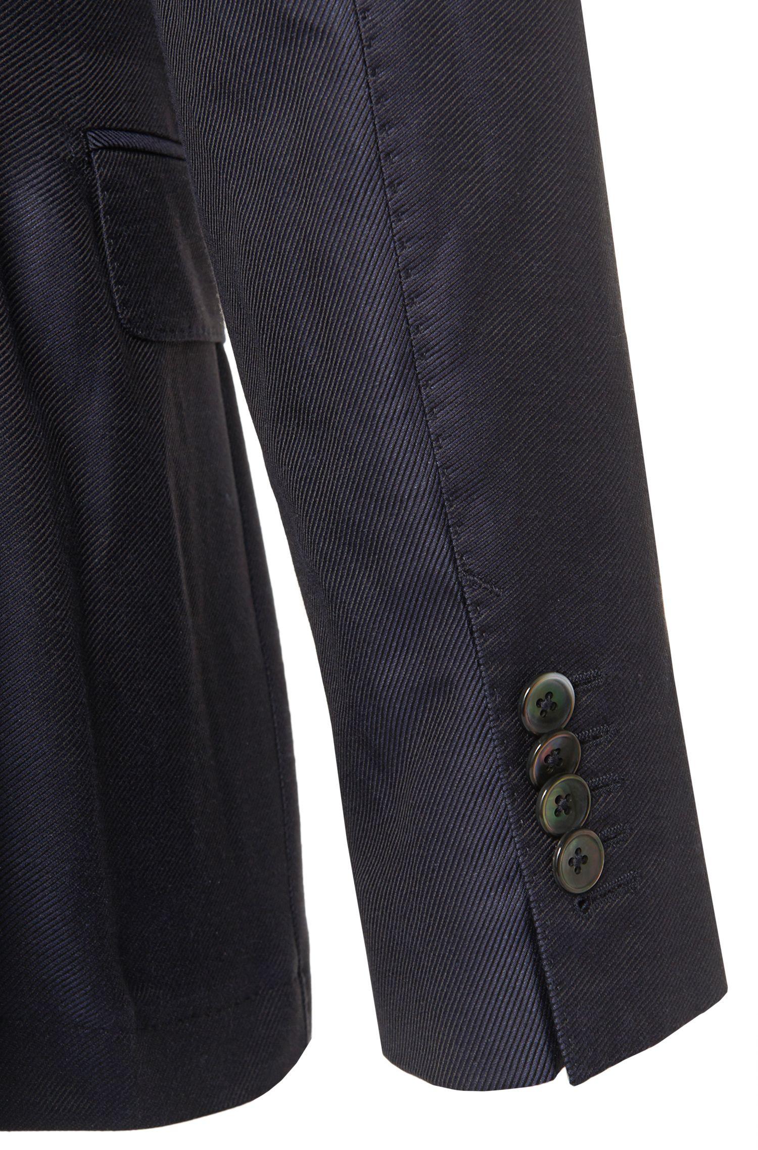 Slim-Fit Tailored Sakko aus Baumwoll-Mix mit Seiden-Anteil: 'T-Norham'