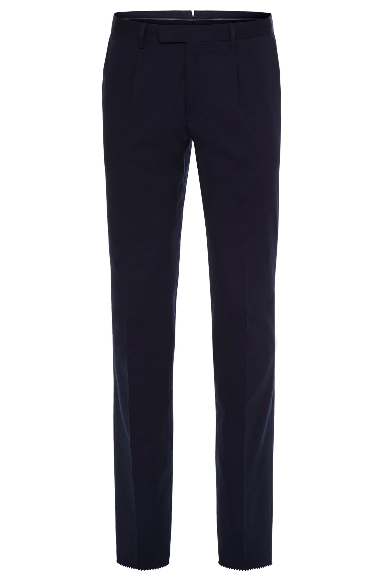 Slim-fit trousers in stretch cotton: 'T-Brady'