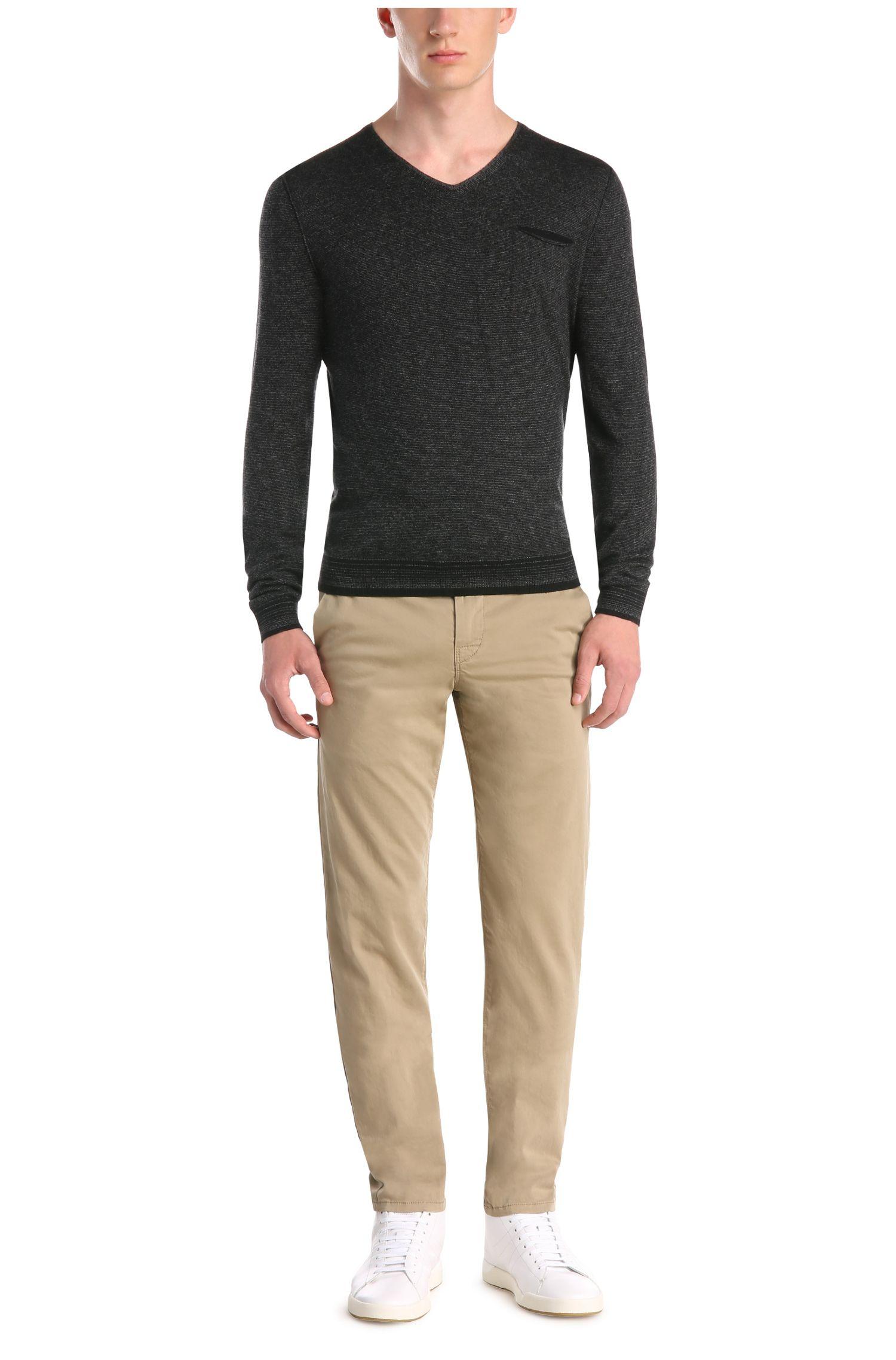 Gestreifter Slim-Fit Pullover aus Baumwoll-Mix: ´Kerpen`